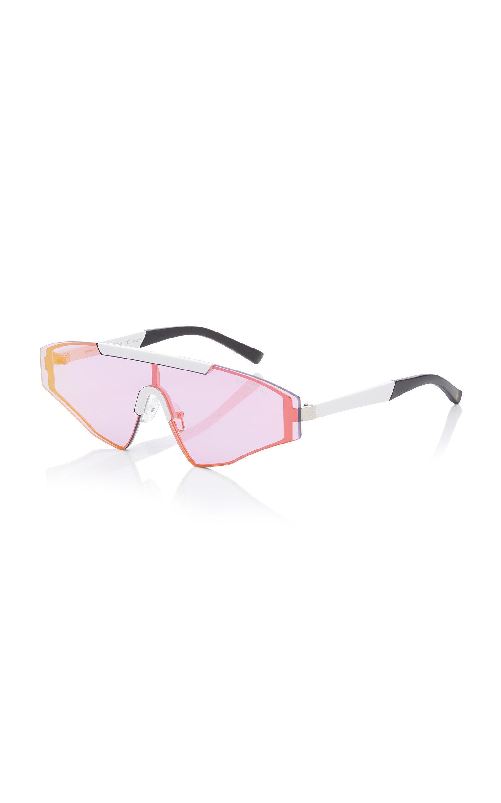 c138af0fd Spektre Vincent Aviator-style Gunmetal-tone Sunglasses in Blue - Lyst