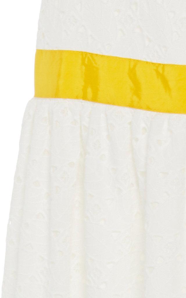 676d5e8567 Stella Jean - White Sangallo Tiered Skirt - Lyst. View fullscreen