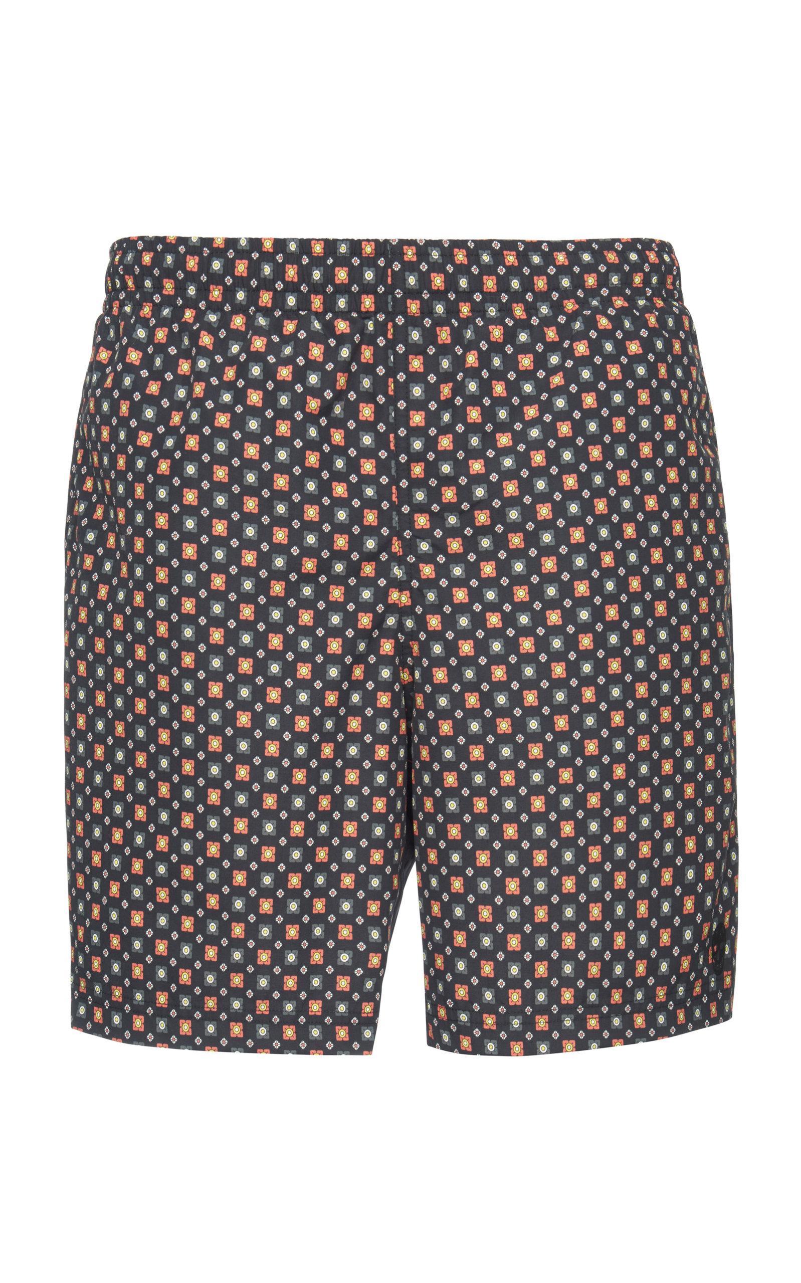 476670362d Lyst - Alexander McQueen Floral-print Swim Shorts in Blue for Men ...