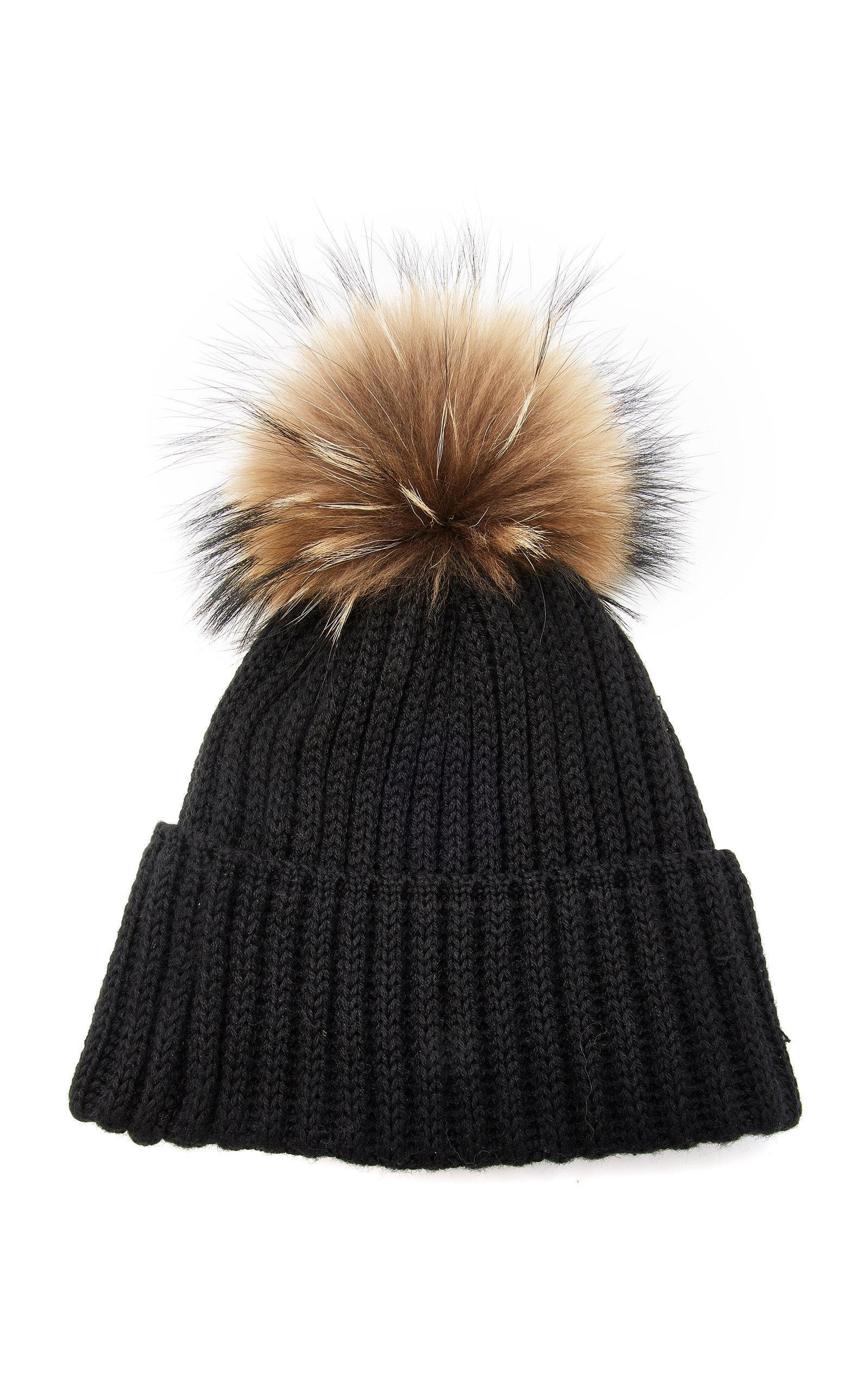 51ac5bbd88a Lyst - Bogner Leonie Wool-blend Pom-pom Beanie in Black