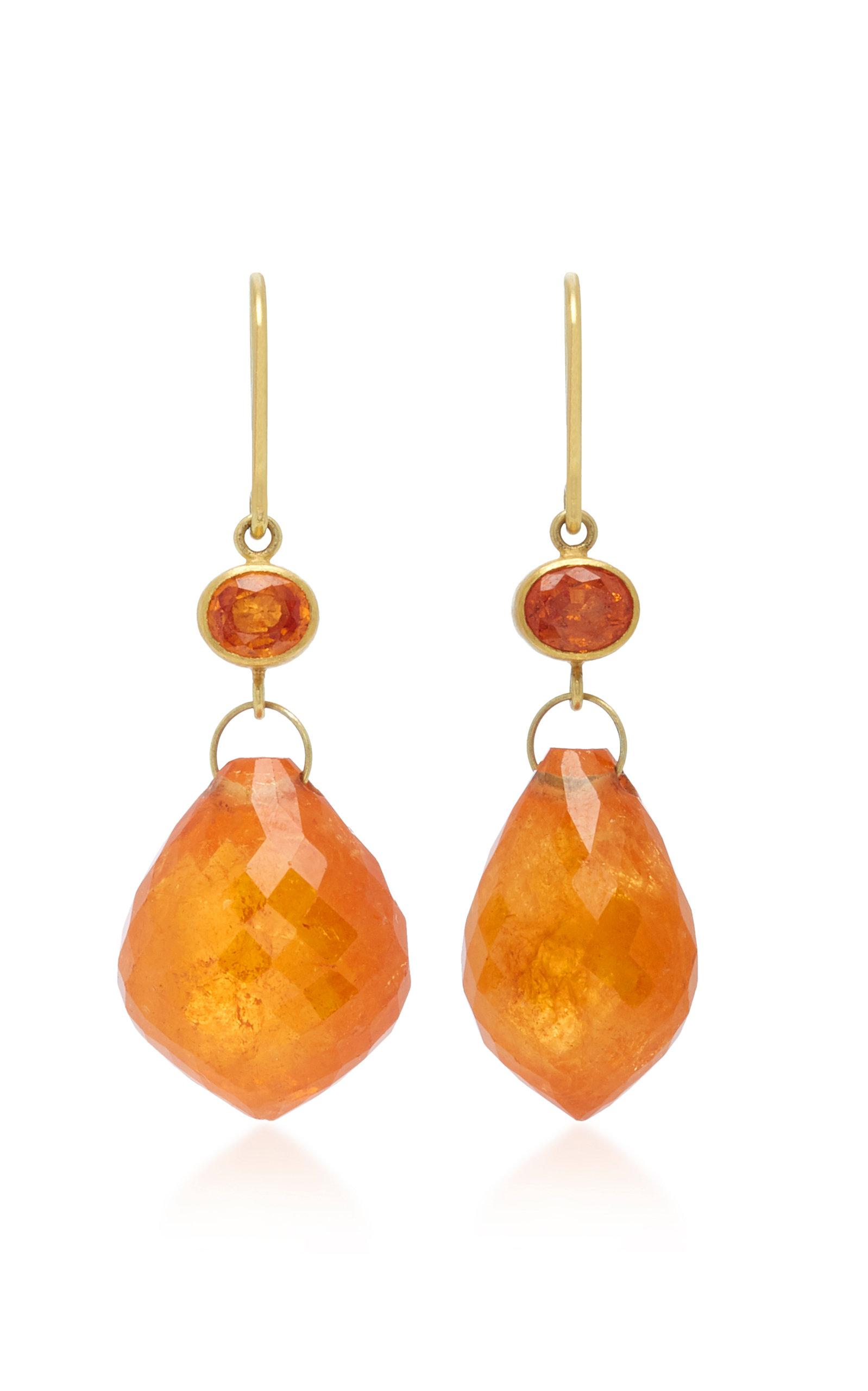 fullscreen gold eve jewelry apple view earrings lyst and marks orange briolette mallary sapphire