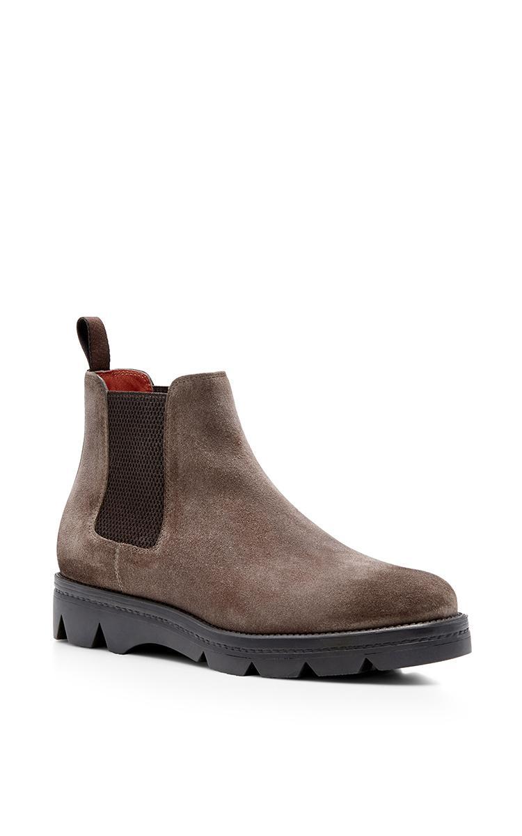 santoni mink suede chelsea boots in brown lyst. Black Bedroom Furniture Sets. Home Design Ideas