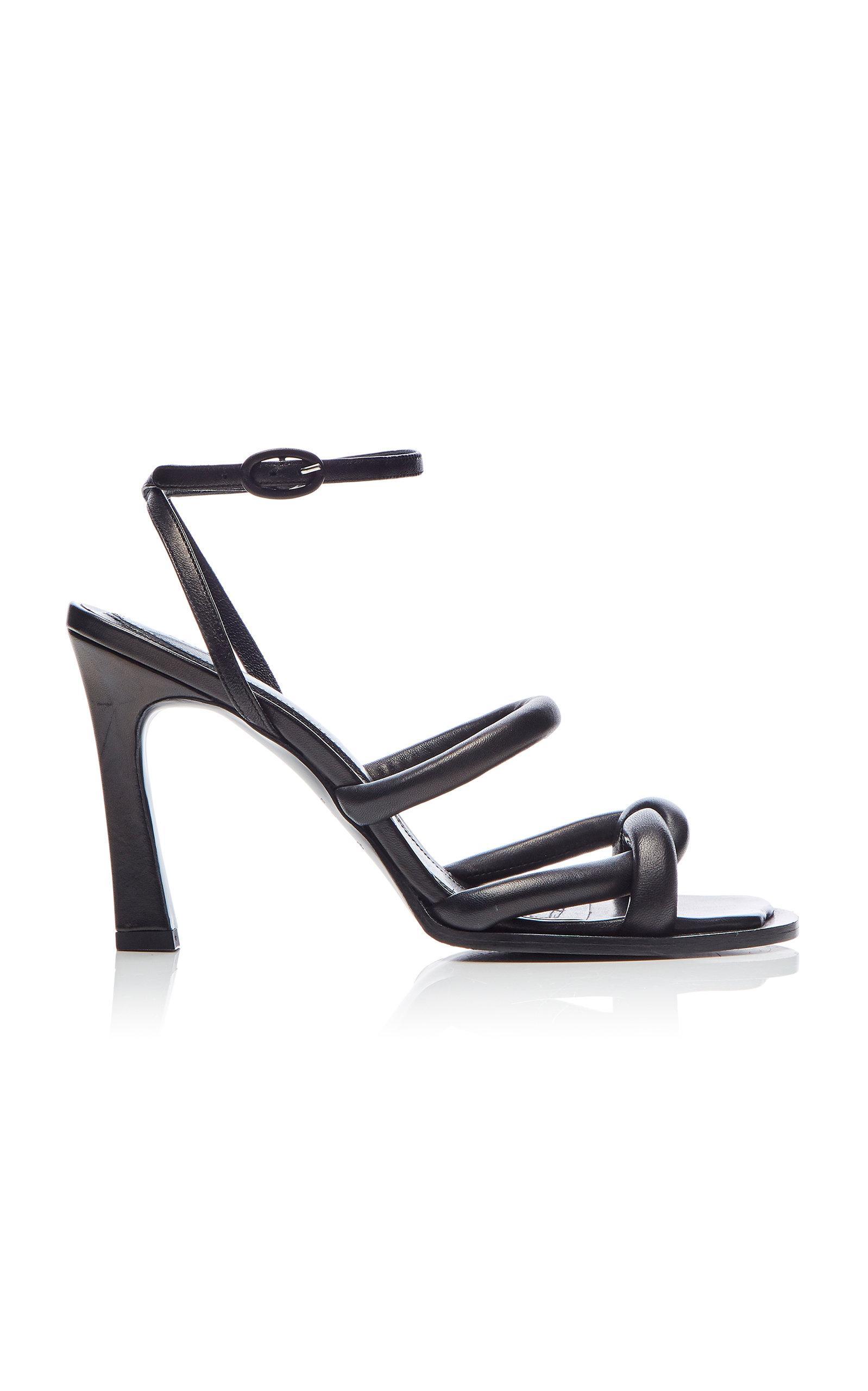 182630a726b Lyst - Ellery Distill Twisted Plain Leather Sandals in Black