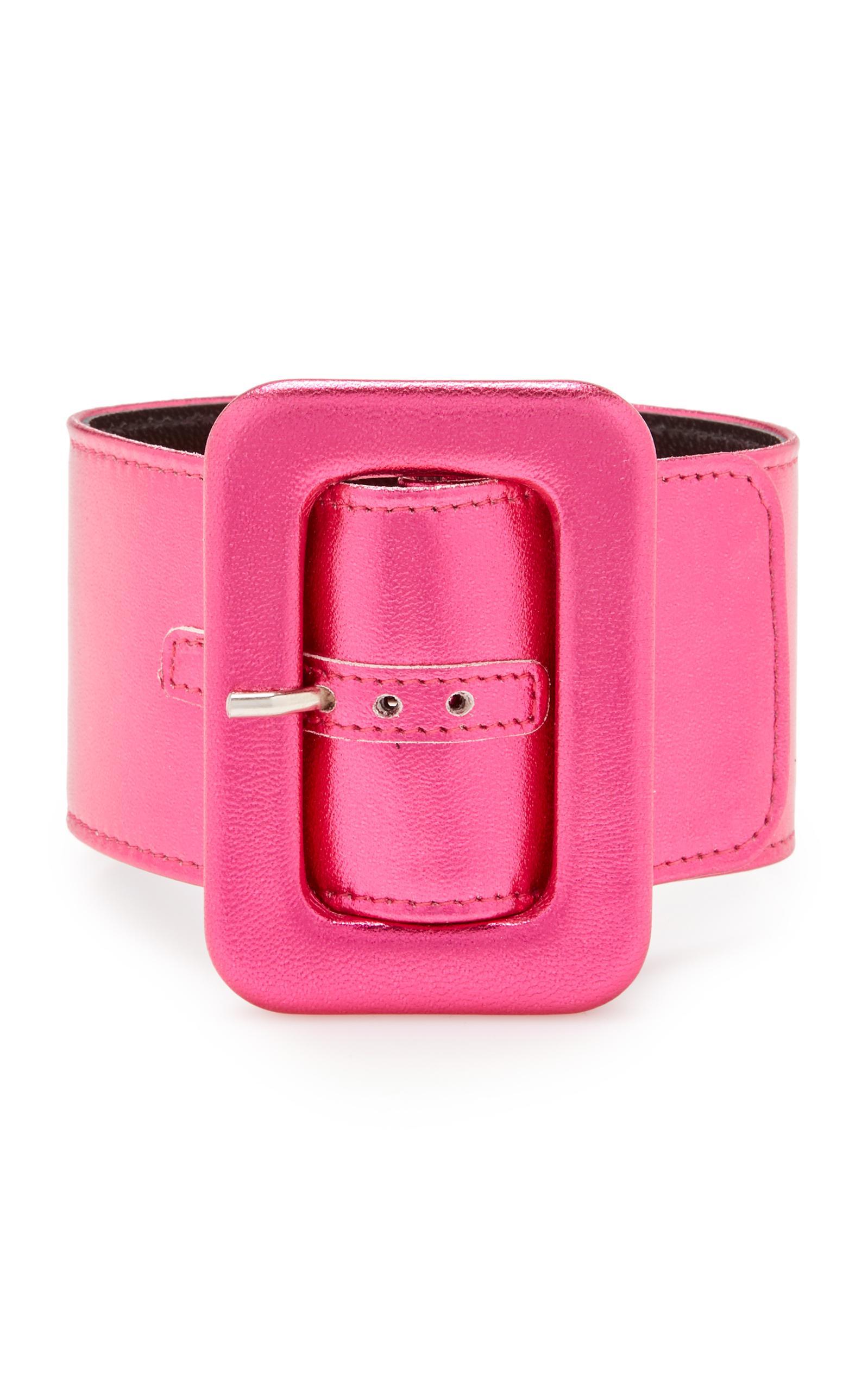 Attico En Cuir De Bracelet De Cheville Soie Rose SF6rbG9g