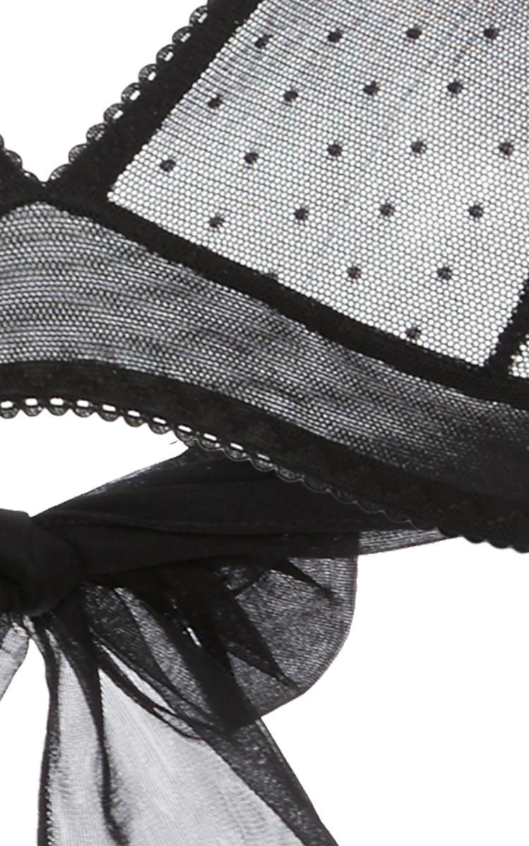 8d142825d1ef2 Lyst - Le Petit Trou Sabine Bow Triangle Bra in Black