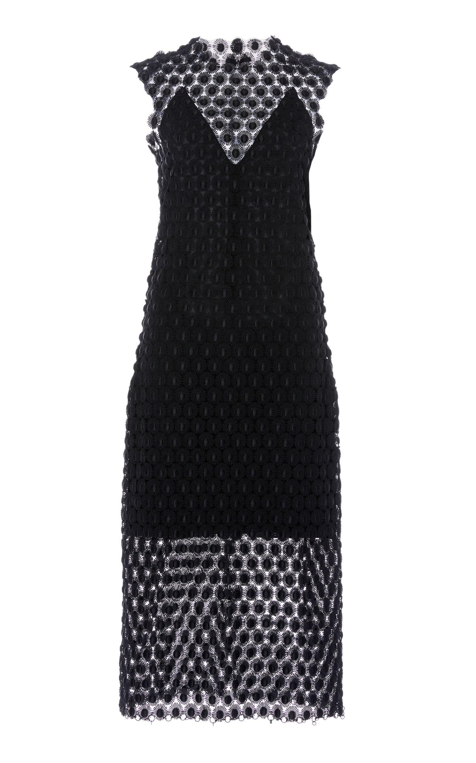 Cowl Neck Midi Dress Paco Rabanne Manchester Cheap Online dFpxW0