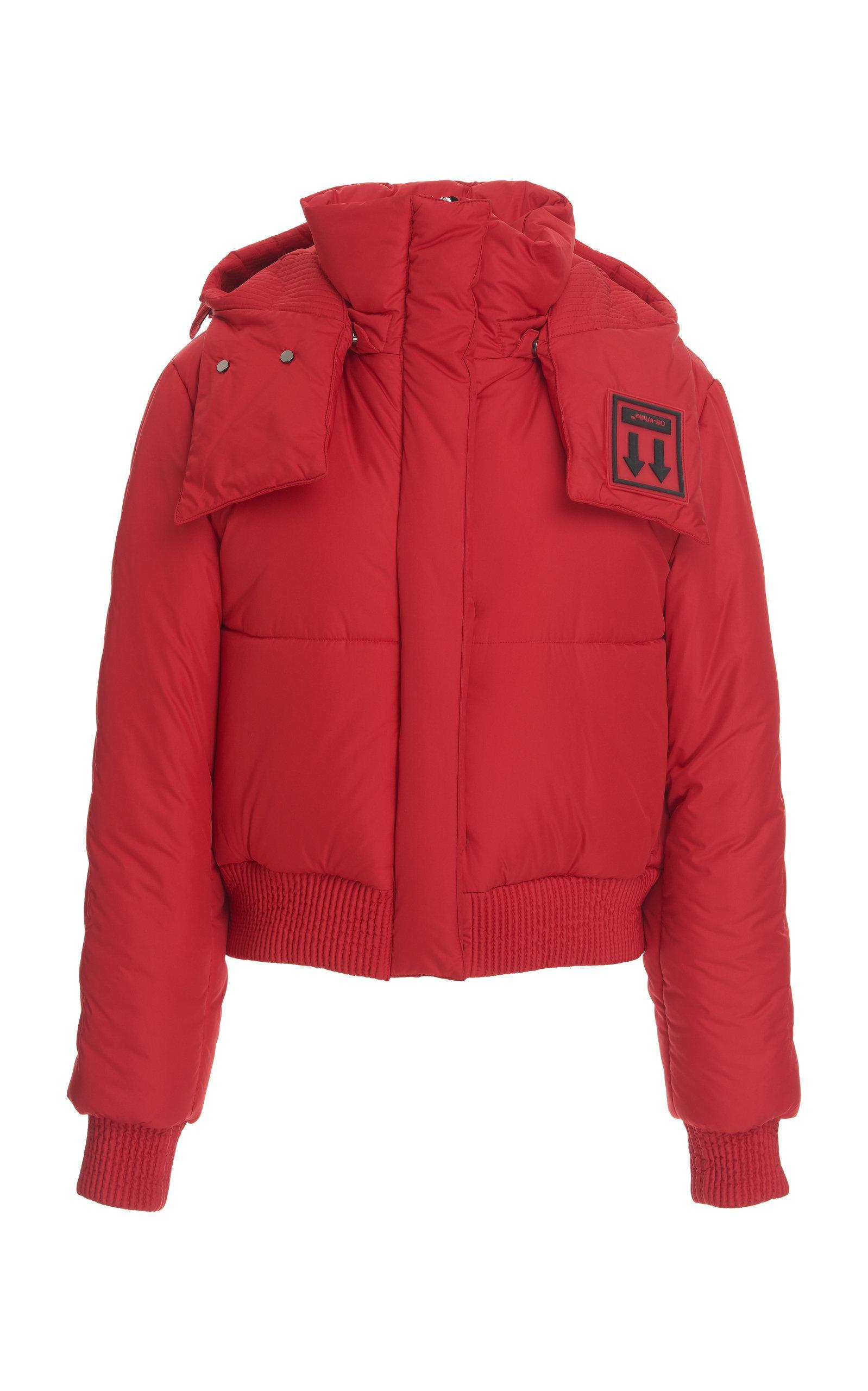 c16b1fe67316 Lyst - Off-White C O Virgil Abloh Short Down Jacket in Red
