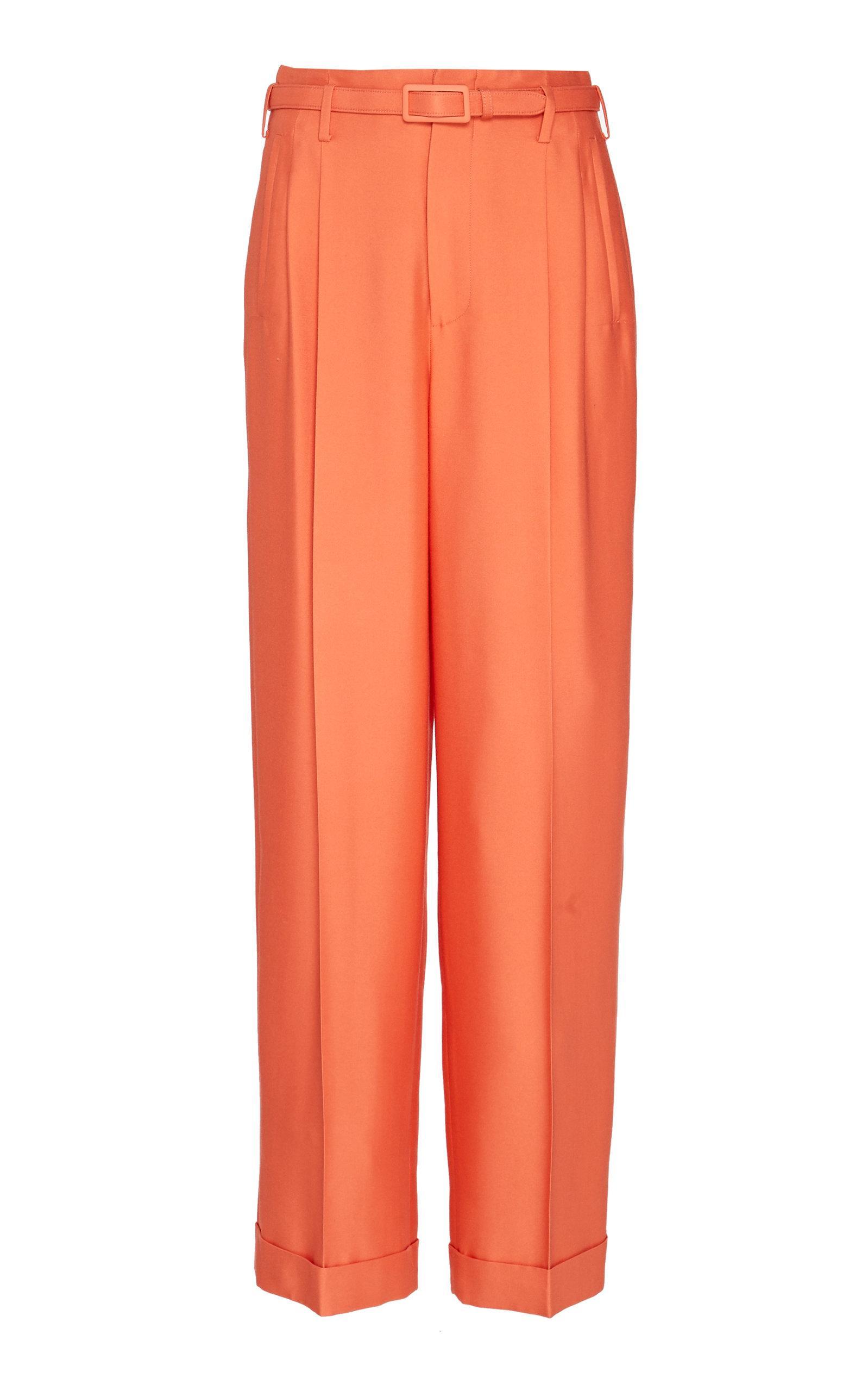 d9105d4a16 Ralph Lauren - Orange Darcy Silk Mid-rise Wide-leg Pants - Lyst. View  fullscreen