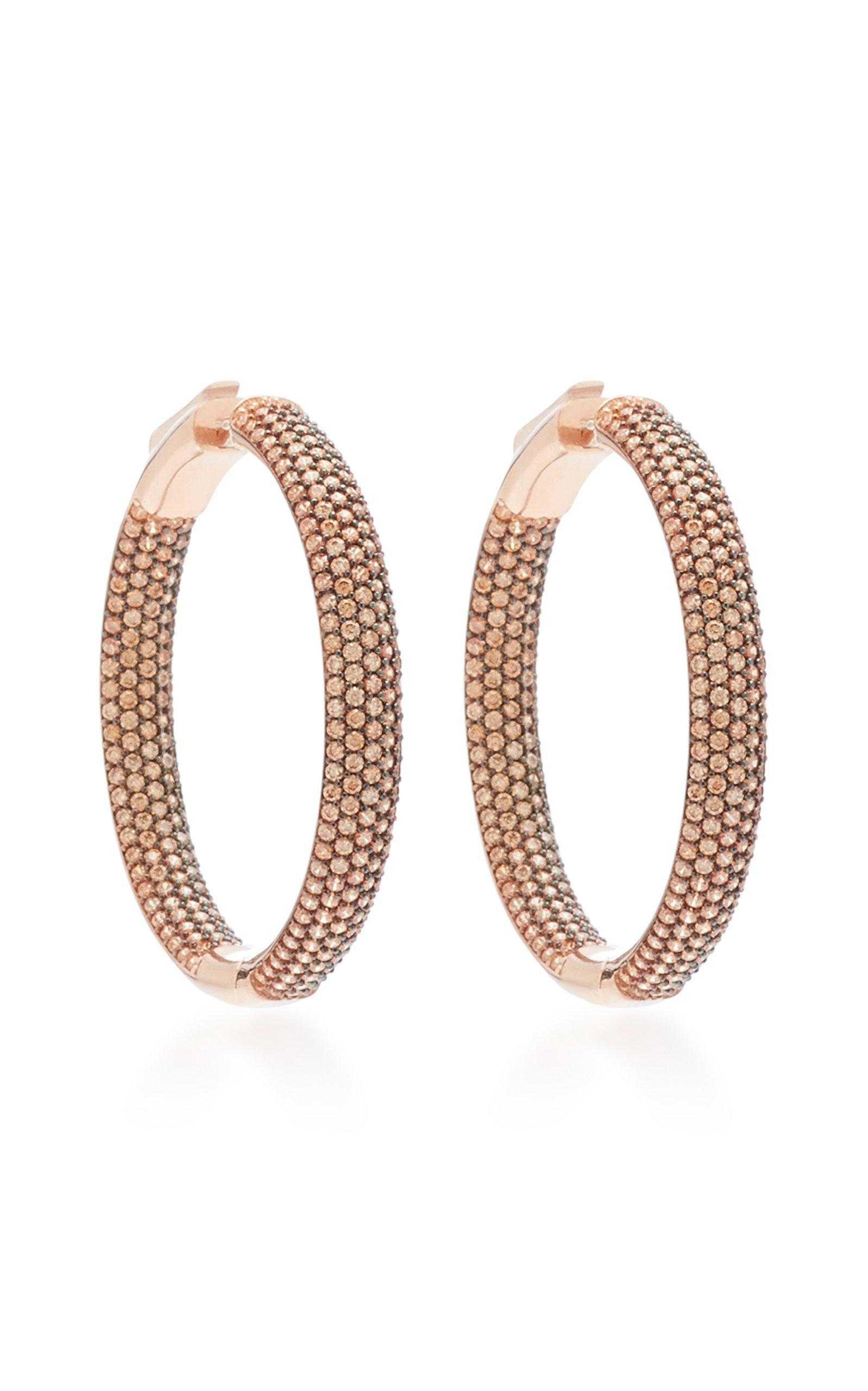 14K Rose Gold Crystal Hoop Earrings Nickho Rey 1Z0lHlzG