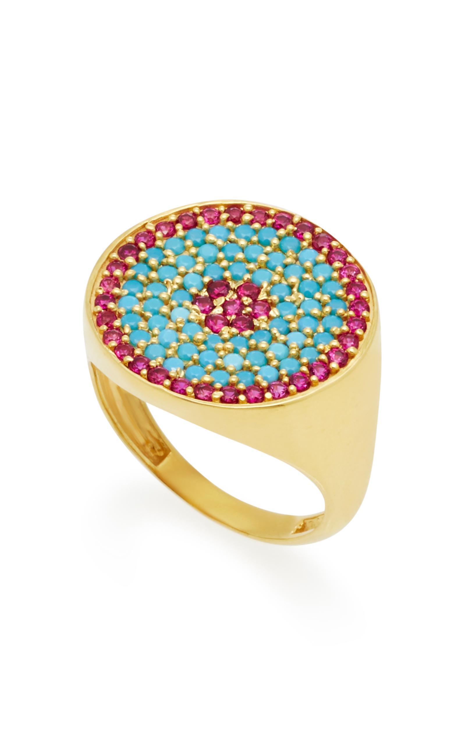 Joanna Laura Constantine Gold-Plated Ruby Crisscross Ring fe0DIpTTBz