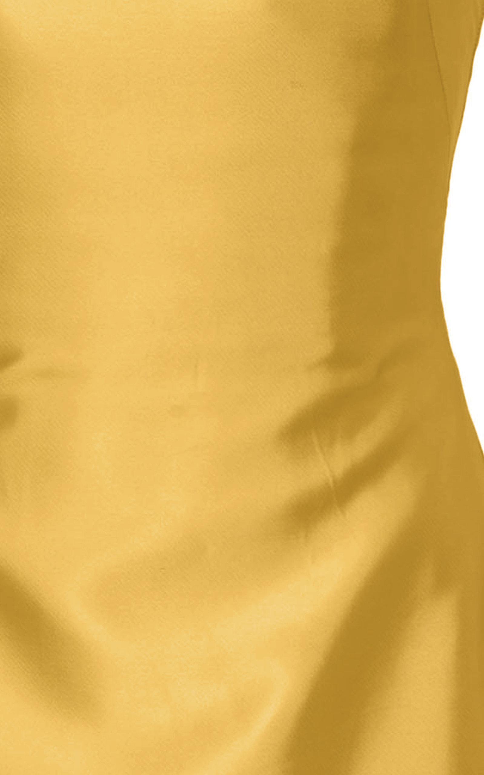 b464e649b7d Lyst - Brandon Maxwell Strapless Knotted-back Satin Cocktail Dress ...