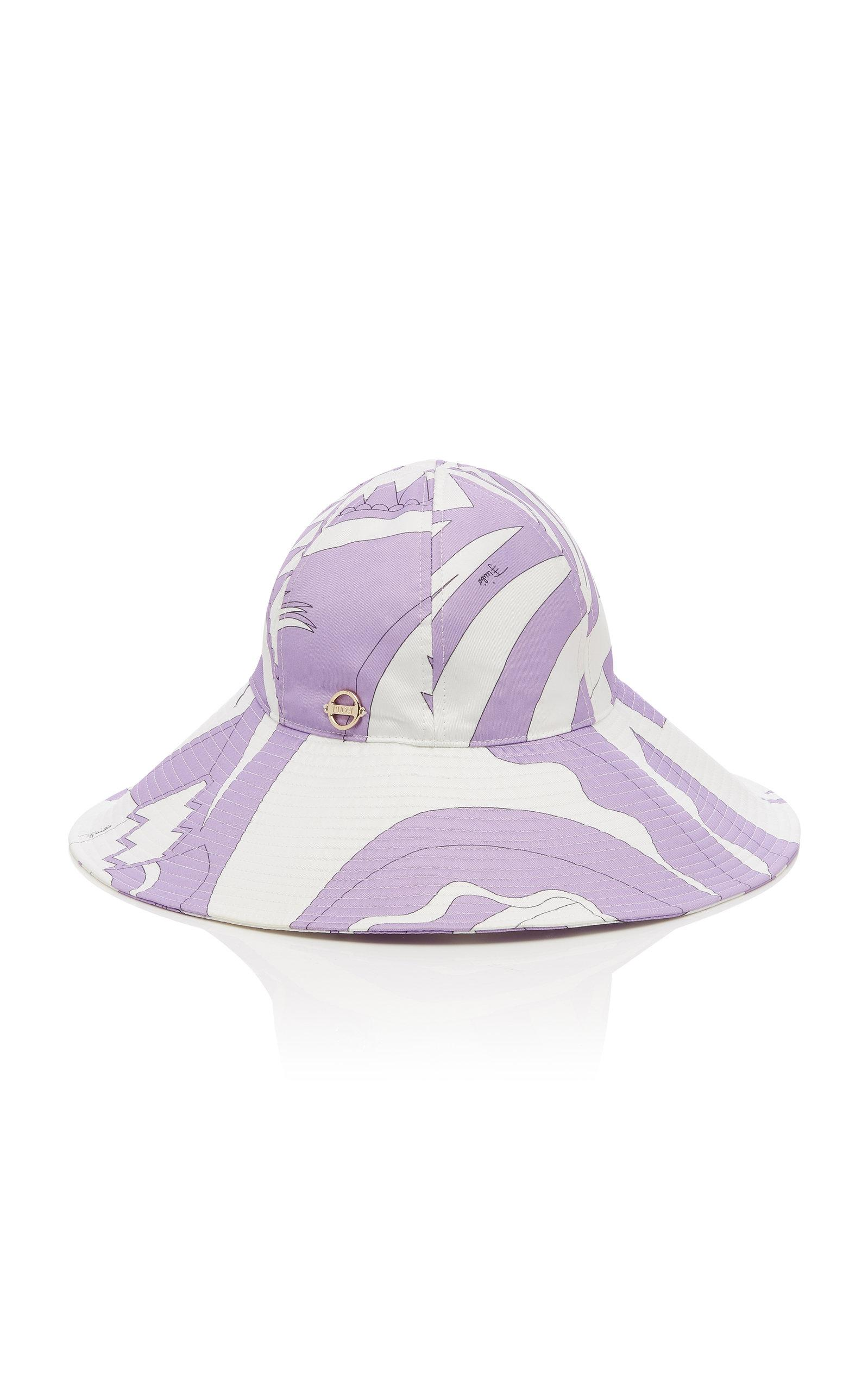 a74d94c53c5e4 Lyst - Emilio Pucci Printed Wide-brimmed Bucket Hat in Purple
