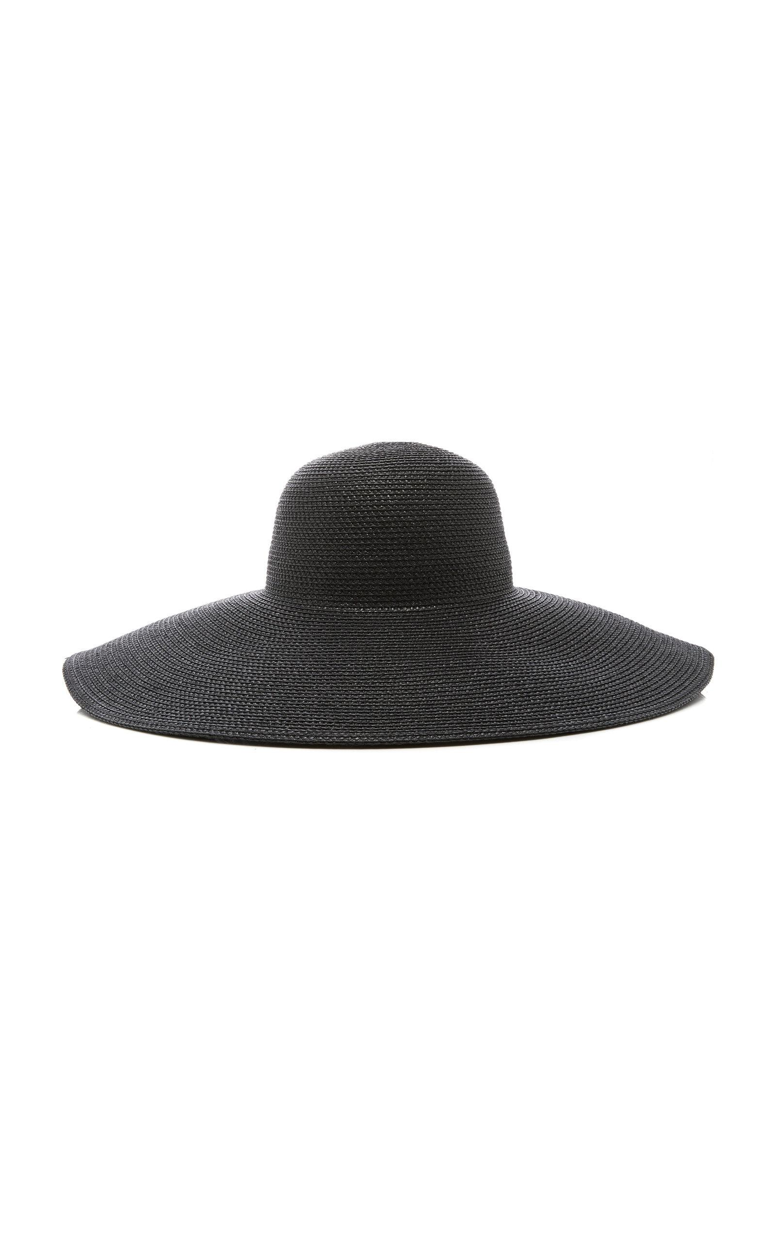 086ec33e324ec Lyst - Eric Javits Floppy Woven Sun Hat in Black