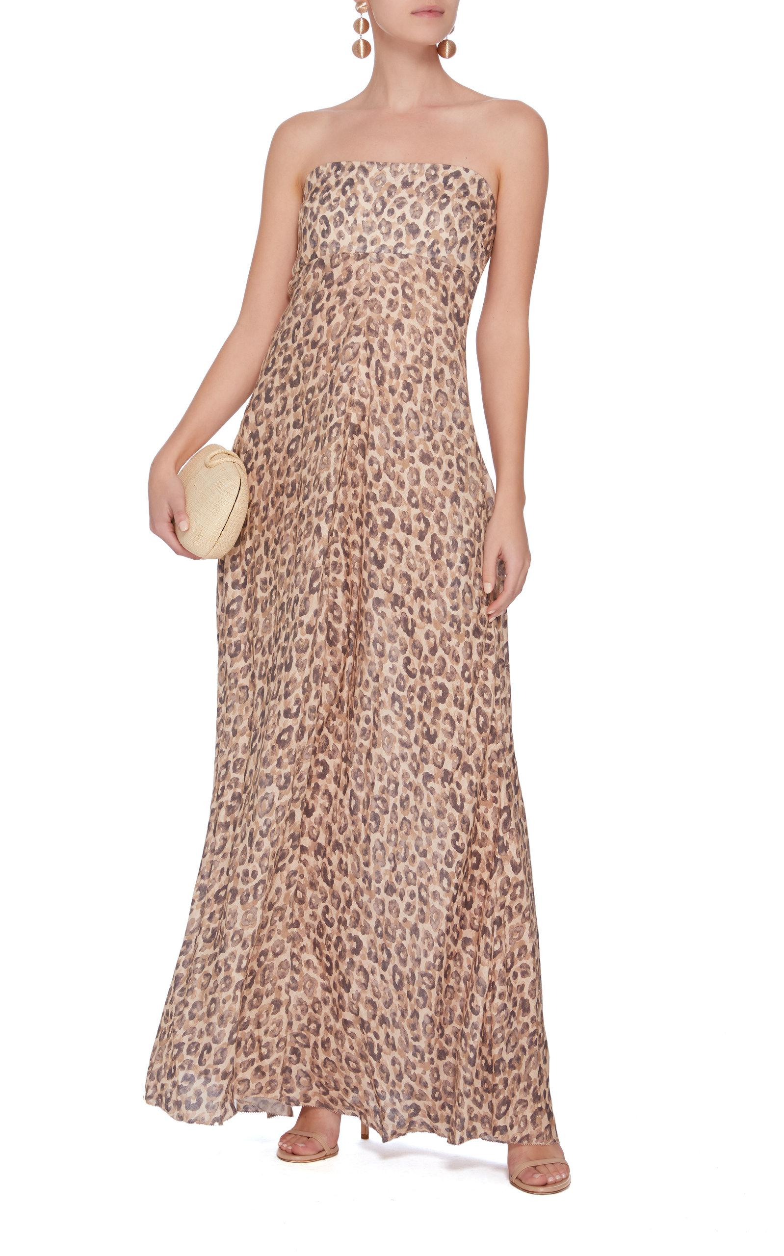 Lyst - Zimmermann Melody Strapless Long Dress