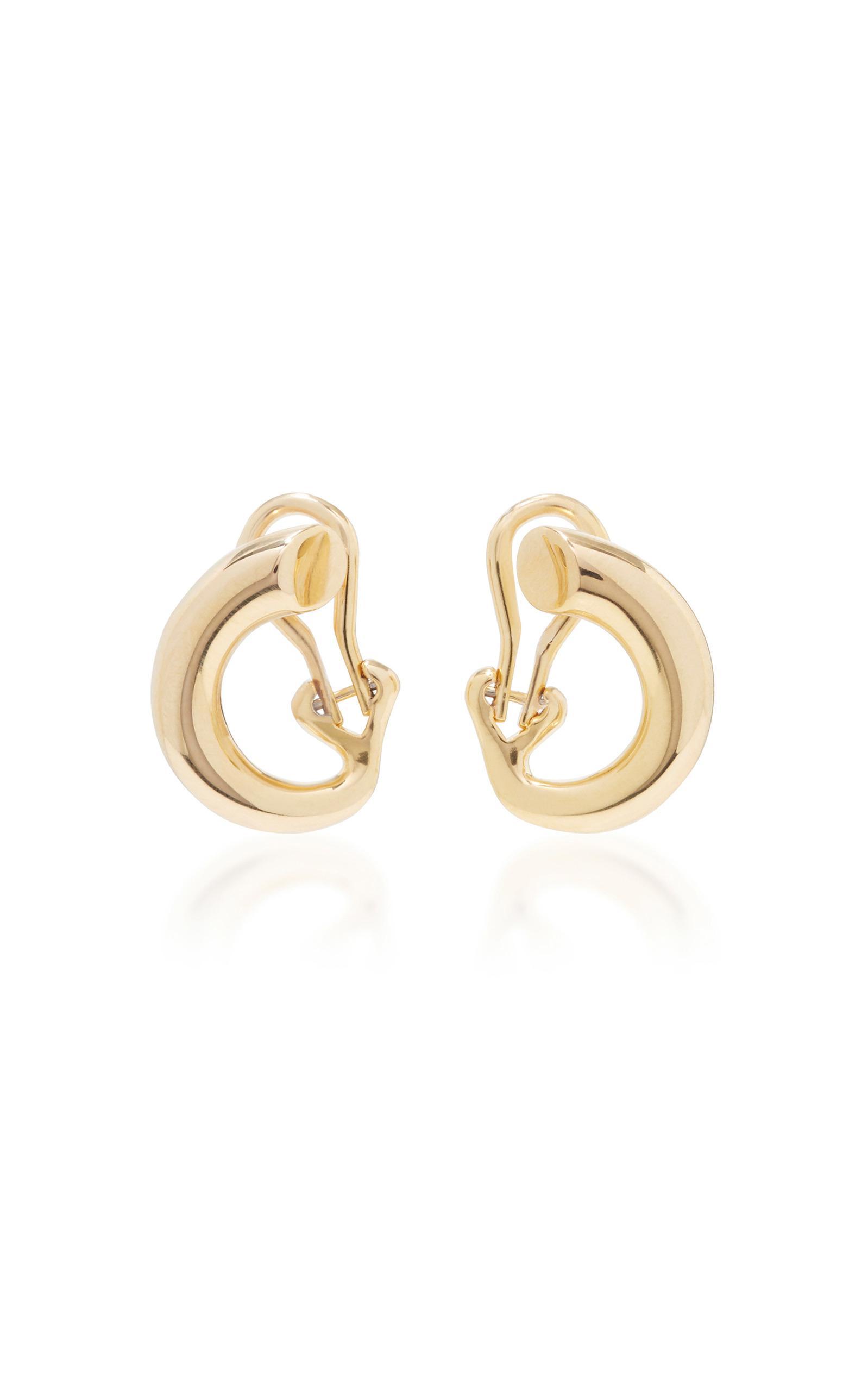 Gold Monie earrings - Metallic Charlotte Chesnais c0UgMl
