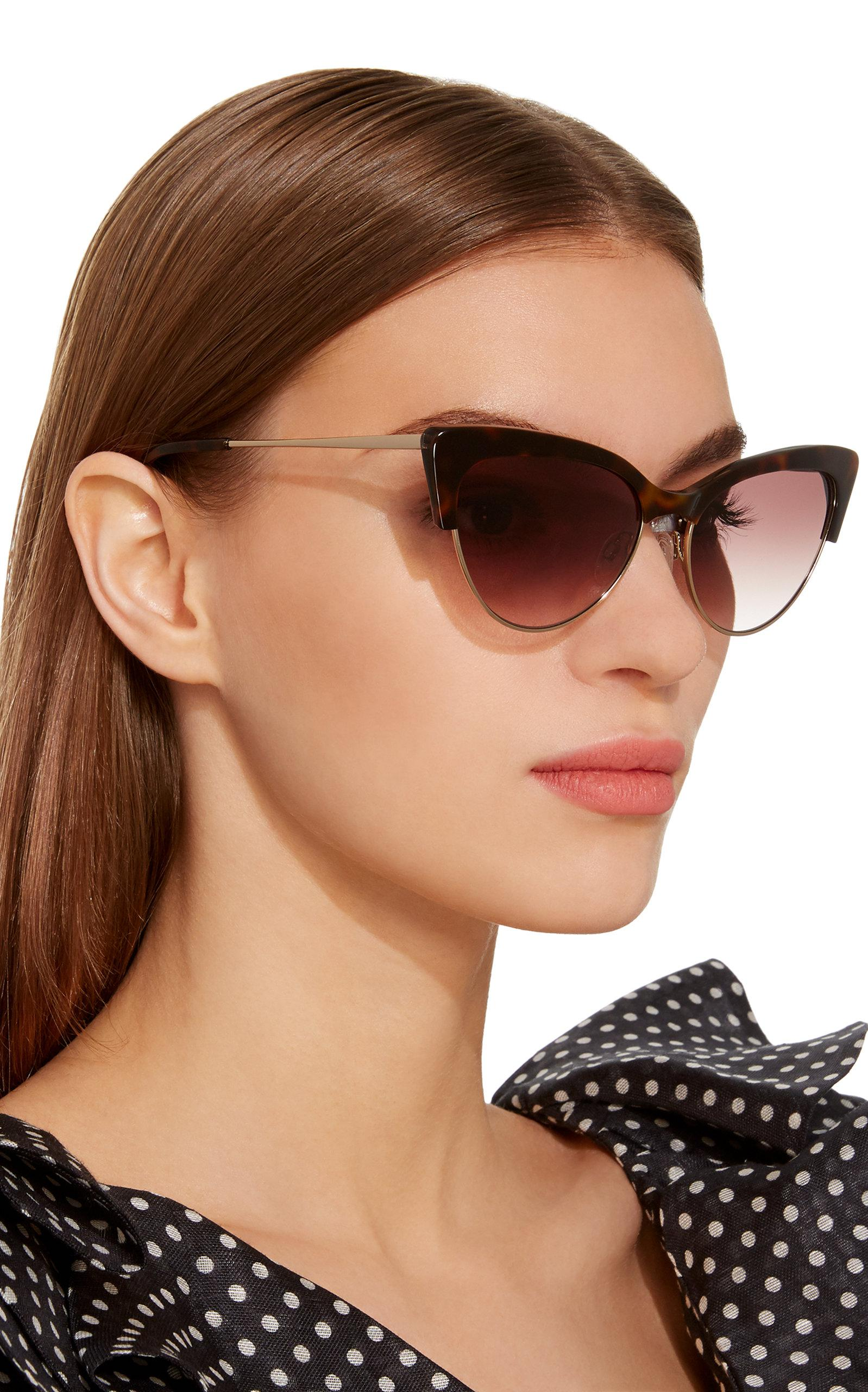 Eye Tura Kate Young para Cat Cecilia Lyst Brown Sunglasses YCqOZC
