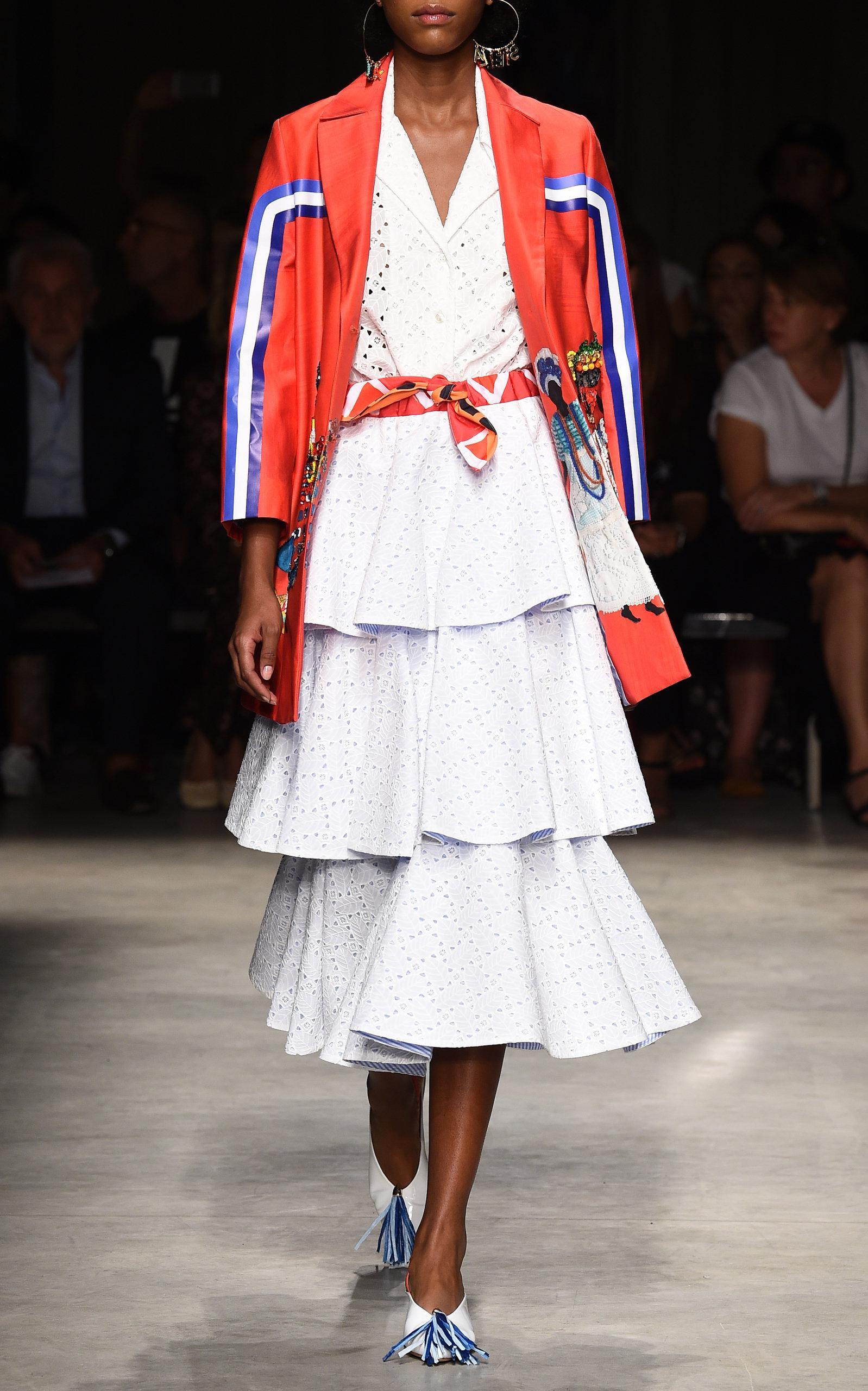 de2d32b4aa Lyst - Stella Jean Sangallo Midi Skirt in White