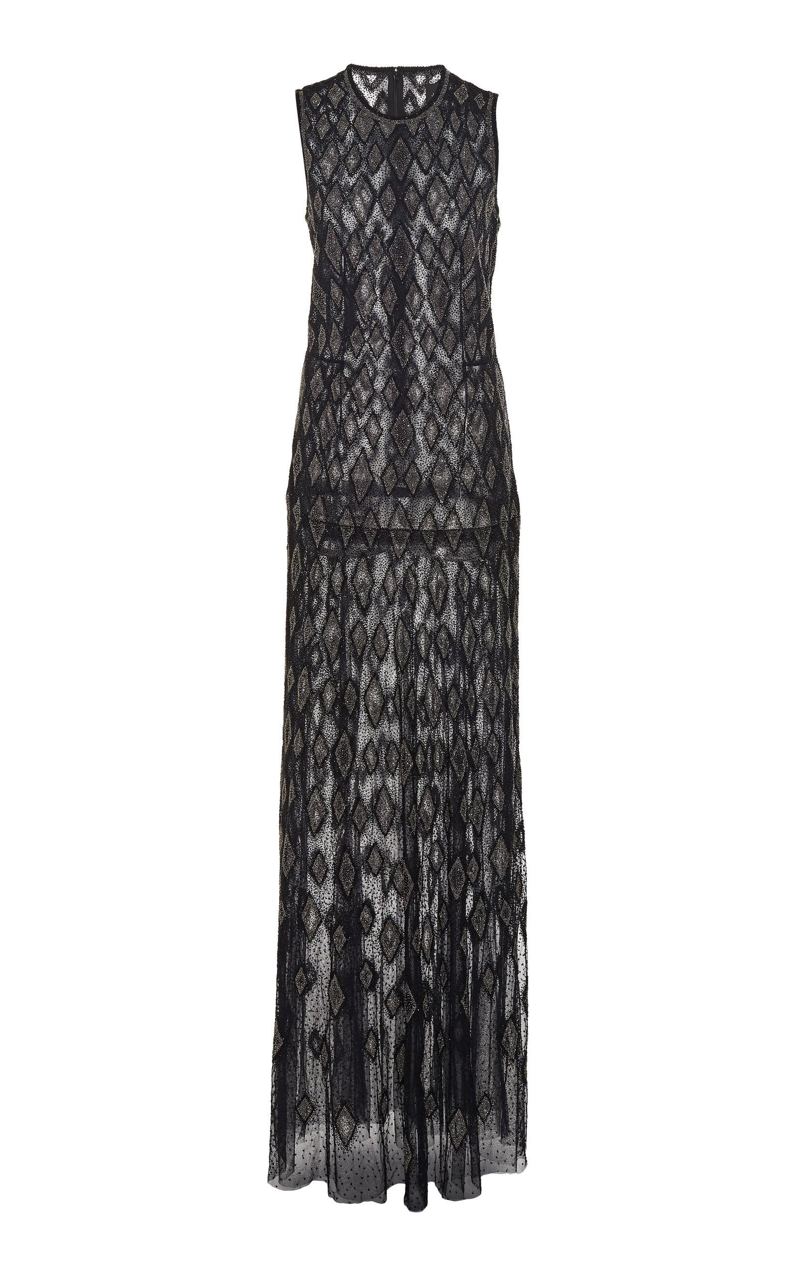 17957315f65 Lyst - J. Mendel Sheer Embroidered Silk Gown in Blue
