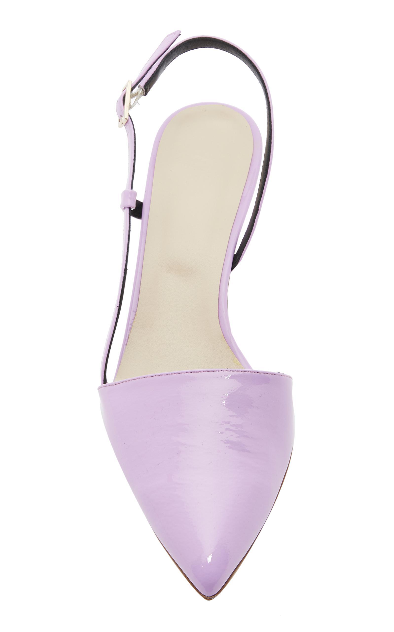 e88d55b778e Lyst - Tibi Simon Kitten Heel Slingback in Purple