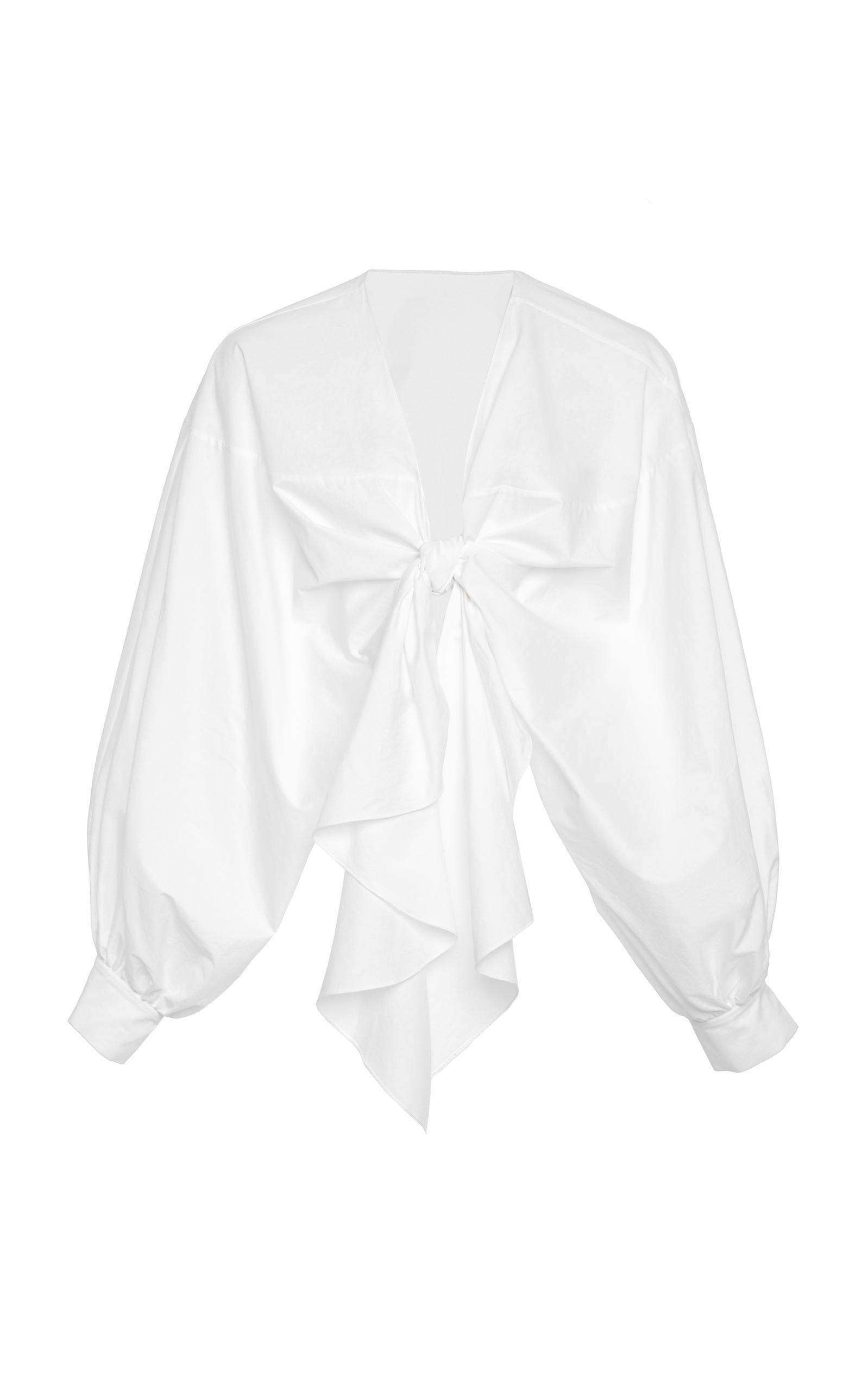 MO Exclusive Gabon Stretch Cotton Poplin Top Johanna Ortiz Outlet Cheap Authentic yt2ezS9qwr