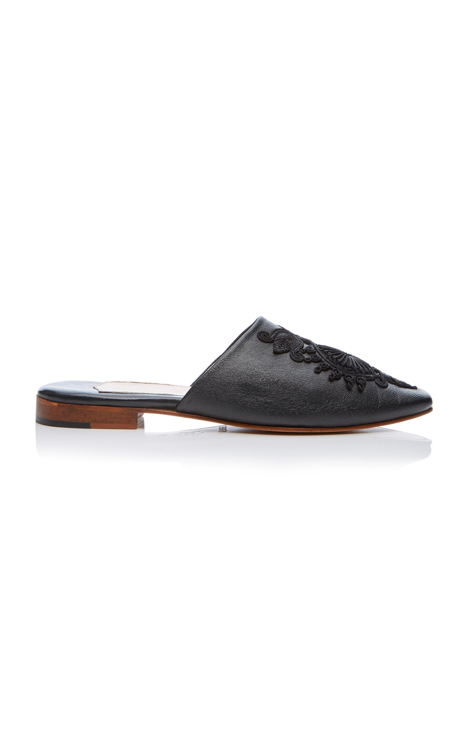 f4f0d26125a Lyst - Carrie Forbes Kenza Mule in Black