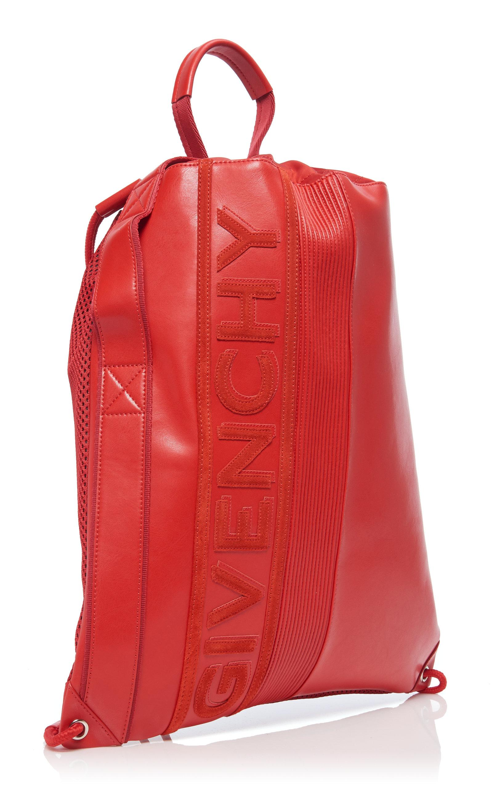 fb2e723d1163f3 Givenchy - Red Mc3 Leather Drawstring Backpack - Lyst. View fullscreen