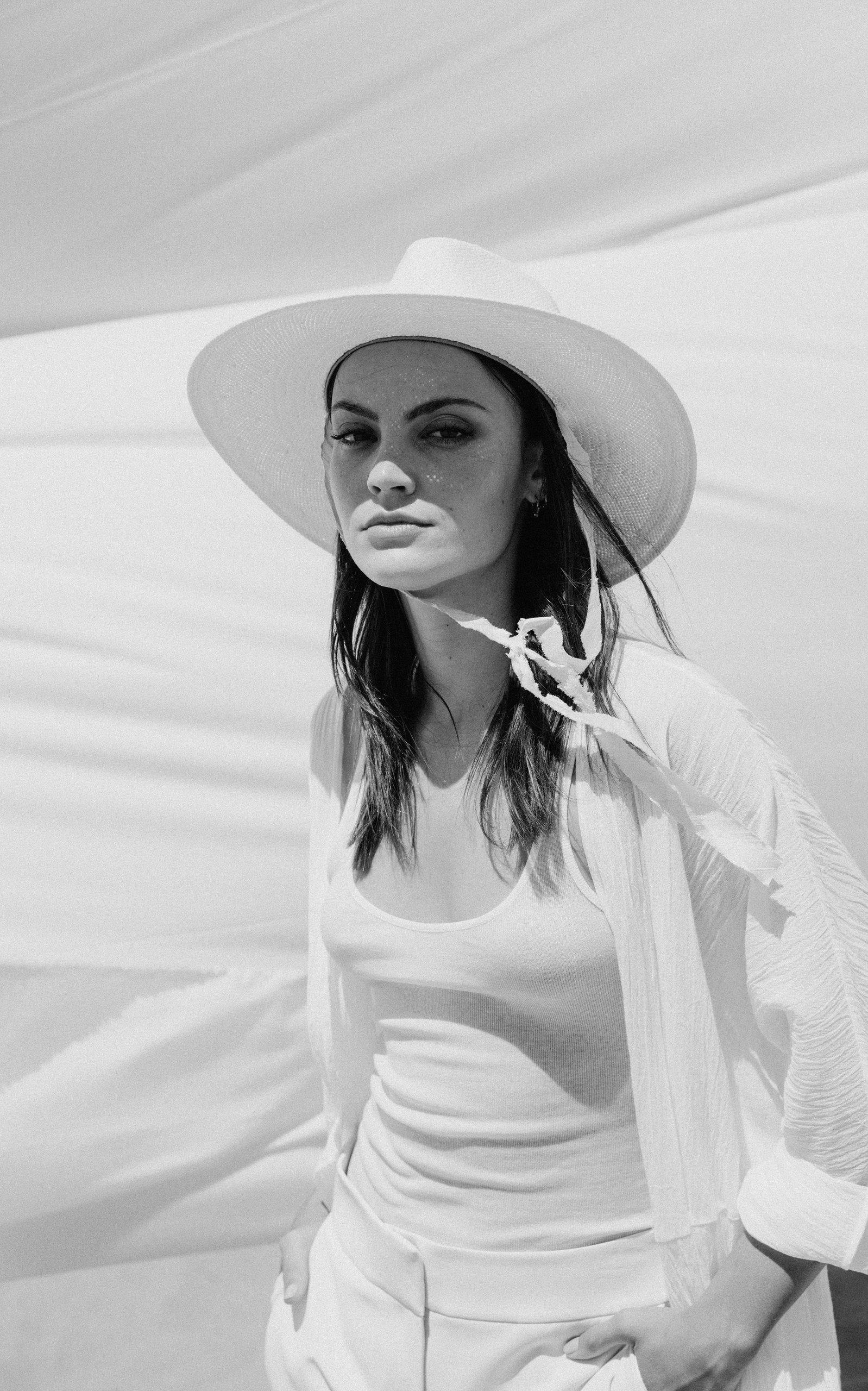 72d88b36537 Janessa Leone White Cezanne Silk-trimmed Straw Hat. View fullscreen