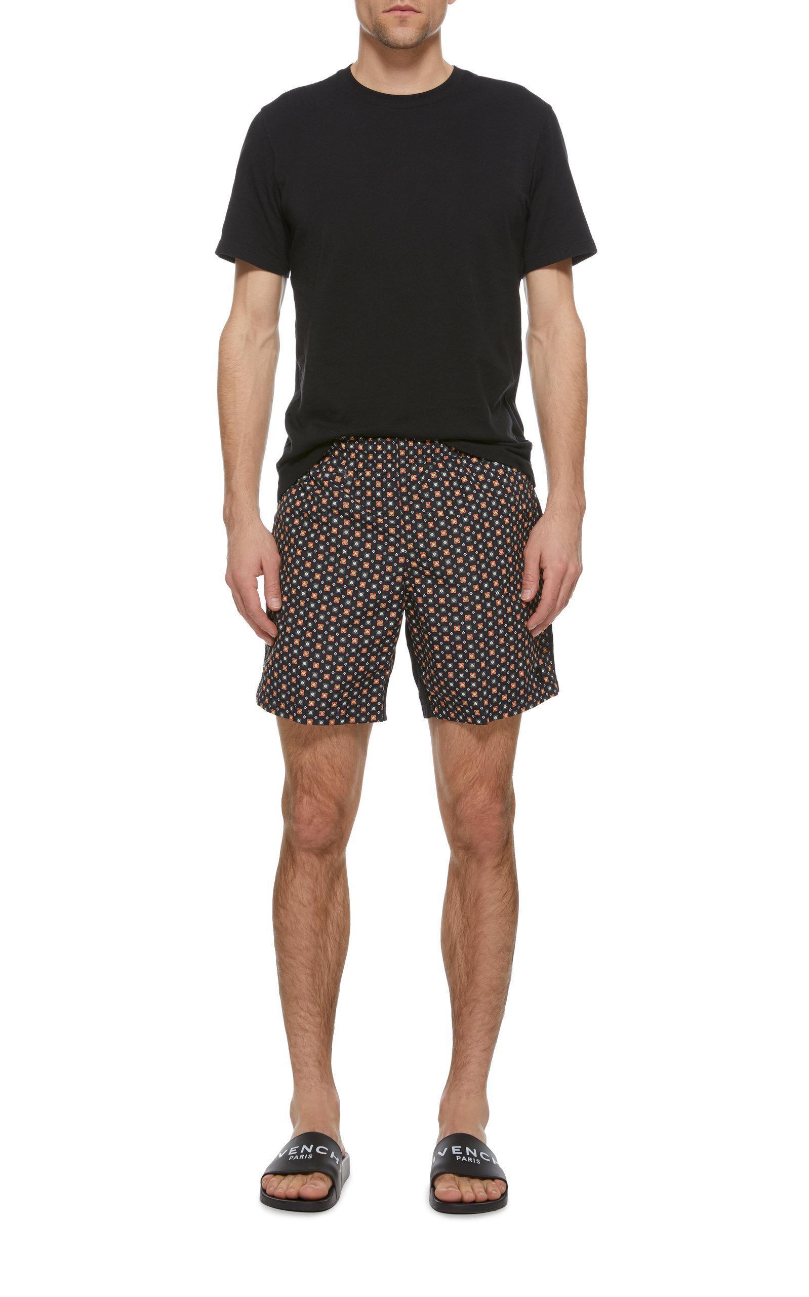 f29df13c0a Alexander McQueen - Blue Floral-print Swim Shorts for Men - Lyst. View  fullscreen