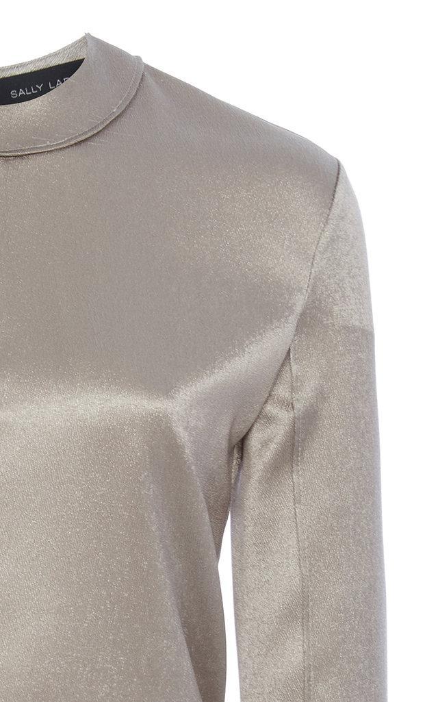 Free Shipping Pick A Best Cheap Extremely Metallic Stretch Silk Ski Top Sally Lapointe Gw5nAxd0