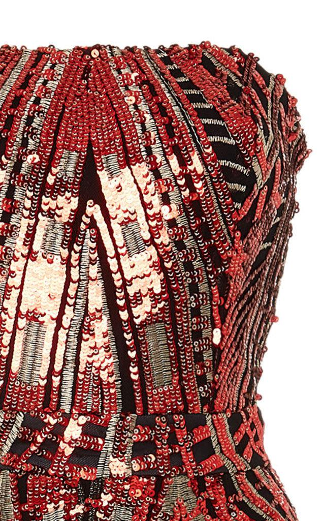 9bb9e52ae2 Lyst - SemSem Abeer Sequin Jumpsuit in Red