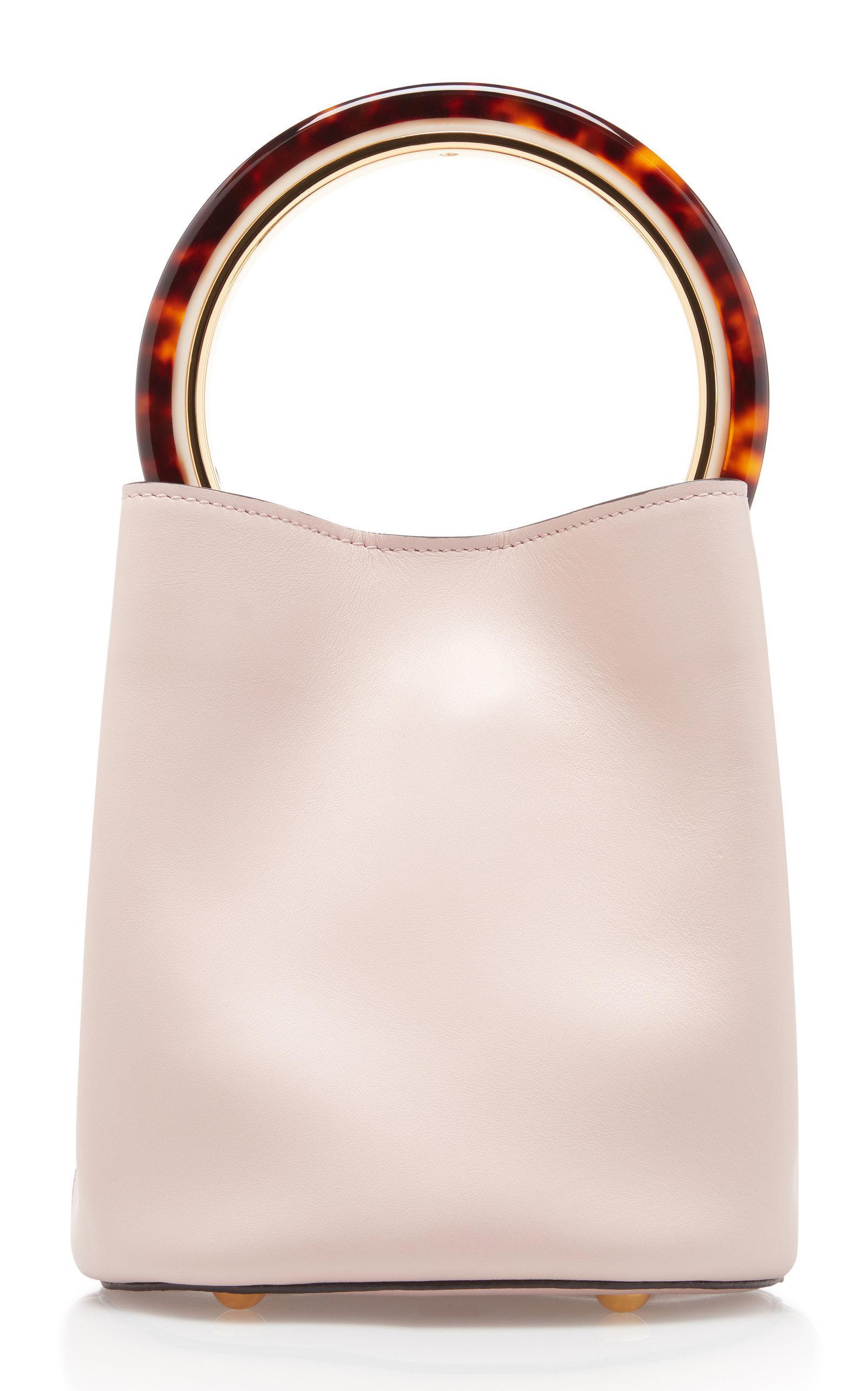 ca7b30e41285 Marni Pannier Bucket Bag With Tortoise Shell Handle - Lyst