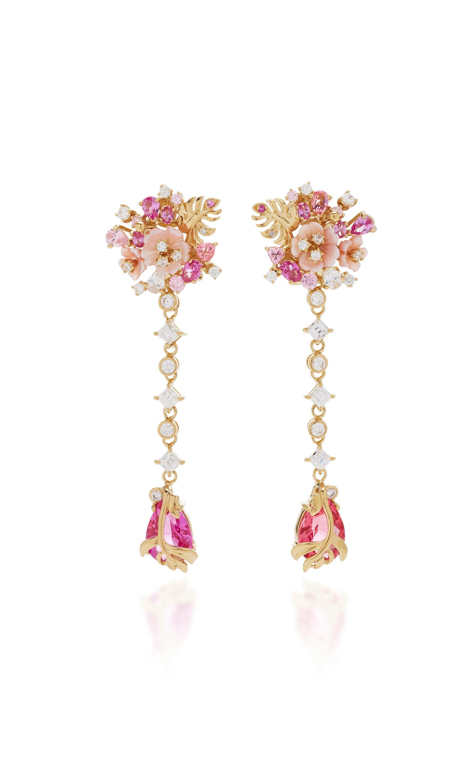 cda9392ac Anabela Chan. Women's Pink M'o Exclusive Padparadscha Paradise Drop Earrings