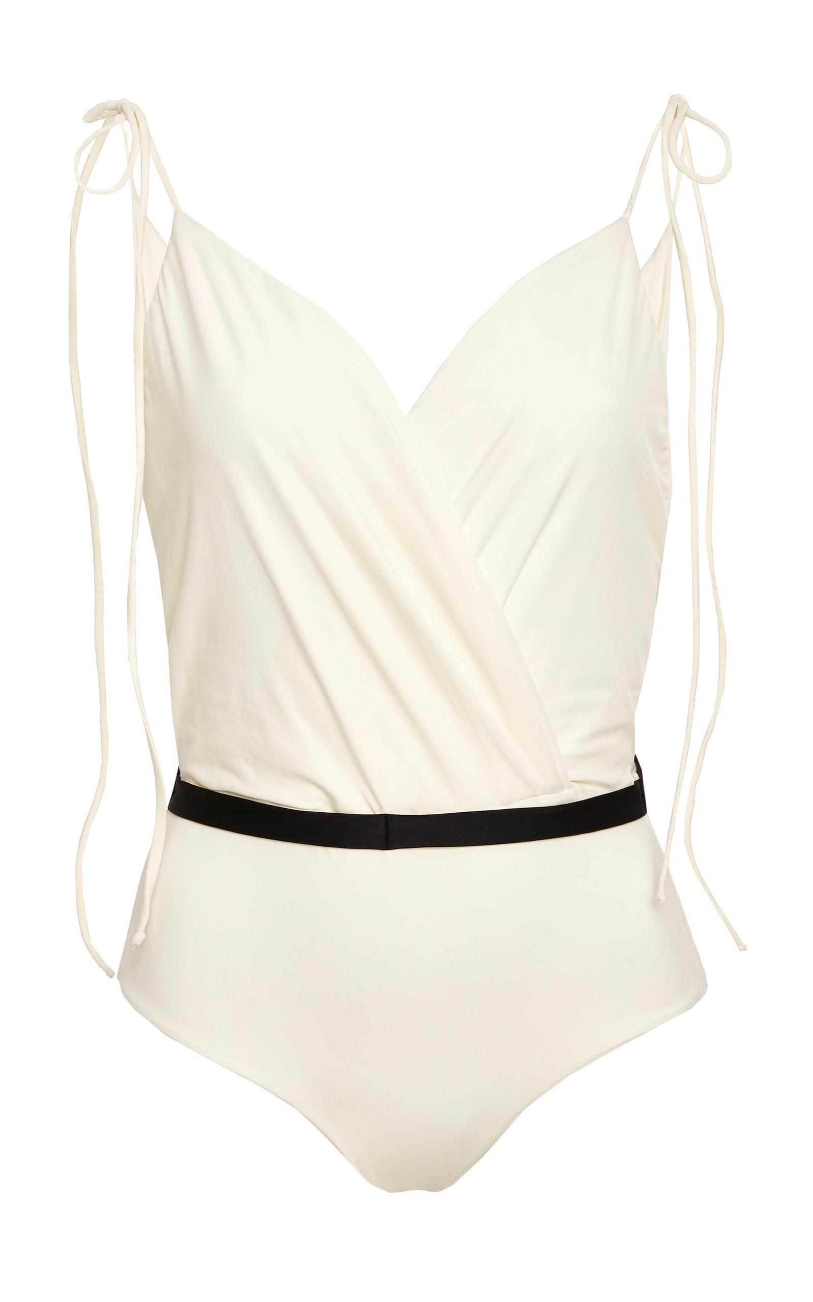 4ba2d3092a Johanna Ortiz M'o Exclusive La Perla Ruffle Swimsuit in White - Lyst