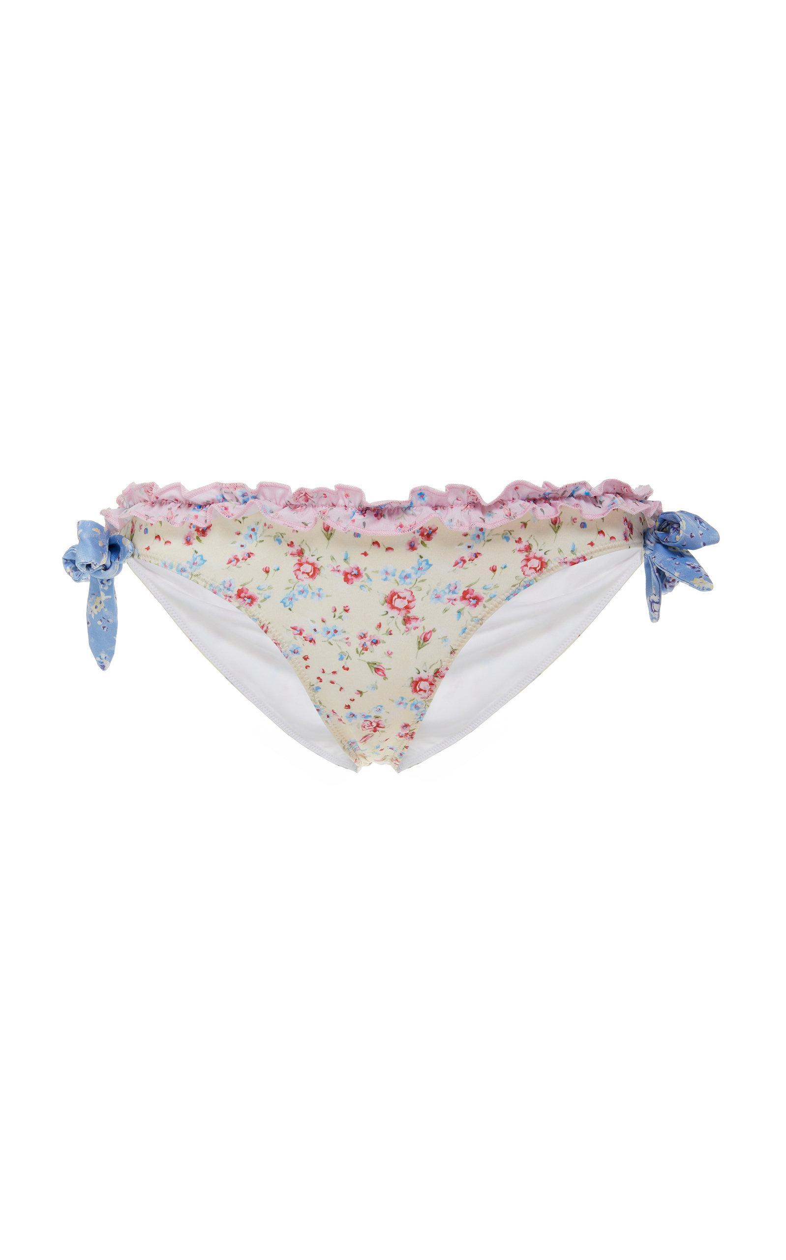 d0f6a36f82f Lyst - LoveShackFancy Elena Floral-print Bikini Bottom