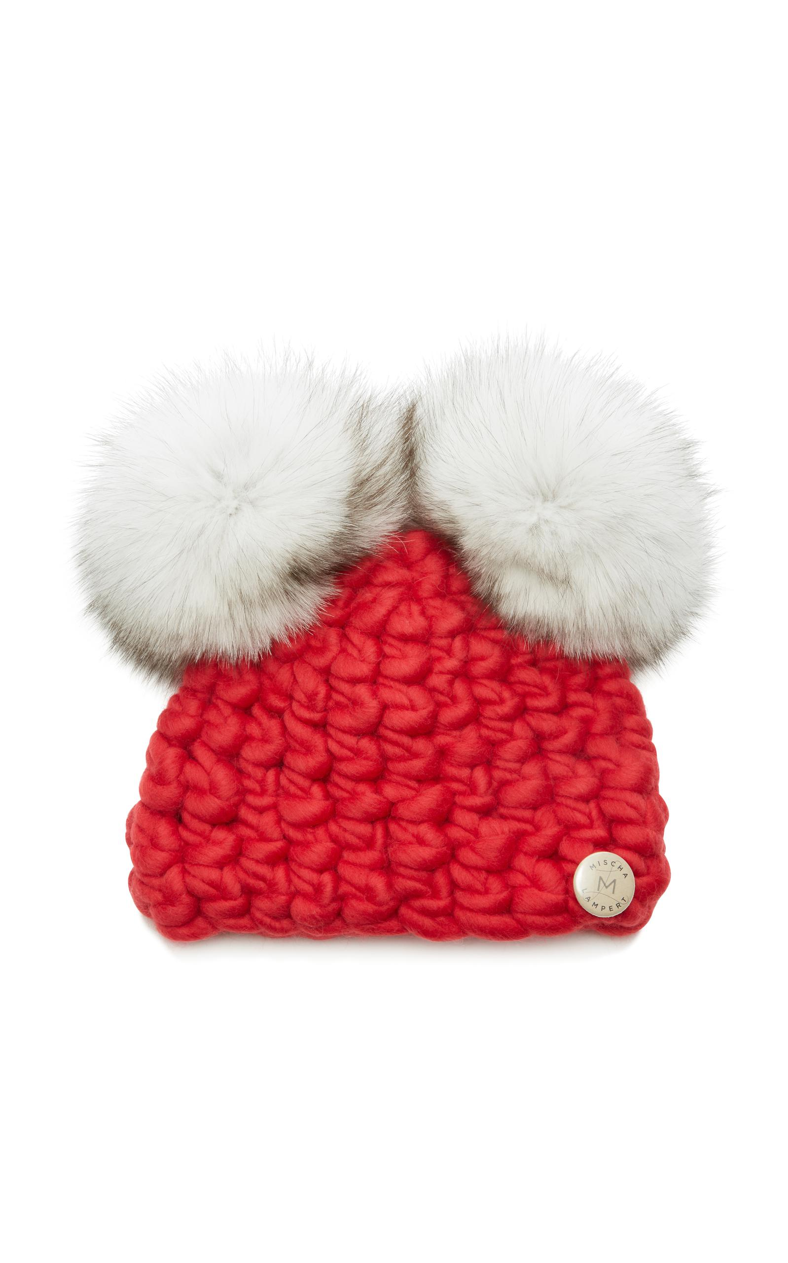 Lyst - Mischa Lampert Mickey Mouse Merino Wool Infant Beanie in Red 7955931f3e55