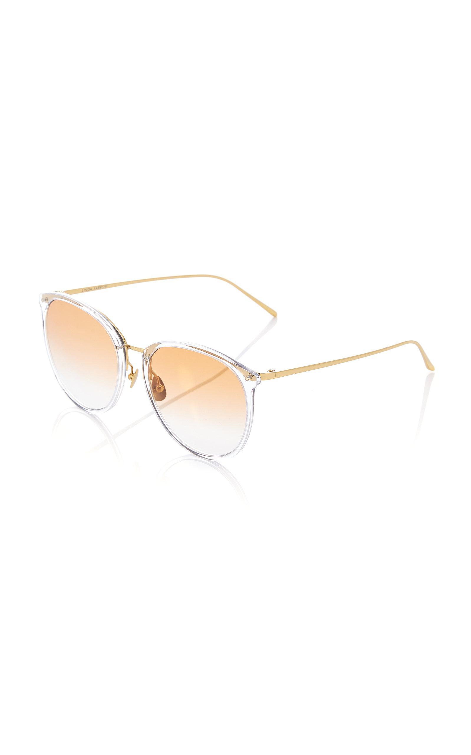 Titanium Acetate Oversized Sunglasses Linda Farrow I22E0