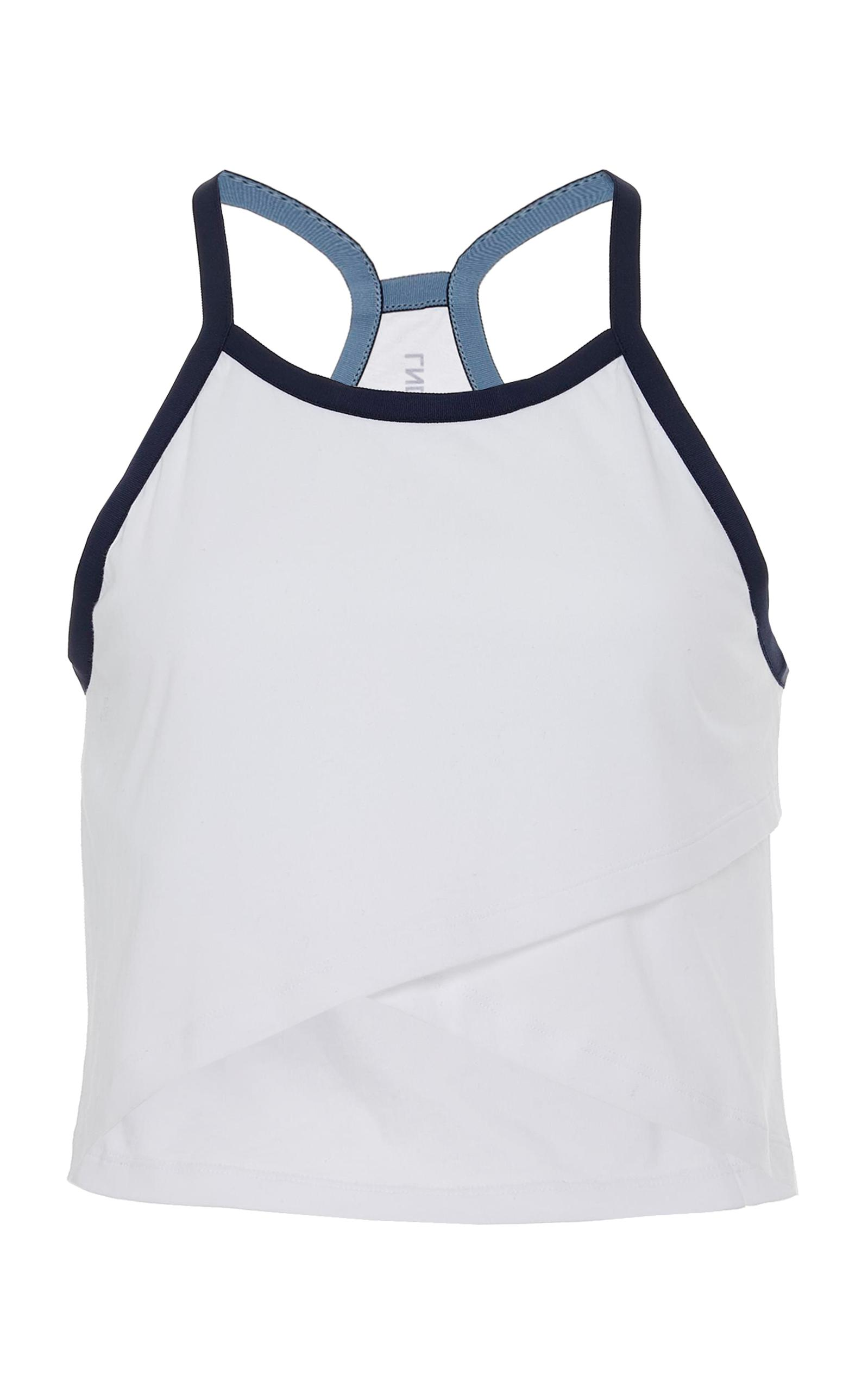 Cheer Cropped Organic Cotton-jersey Tank - White LNDR Sale Best Place Outlet Prices Free Shipping Outlet Locations Big Discount Online yd7XIV20