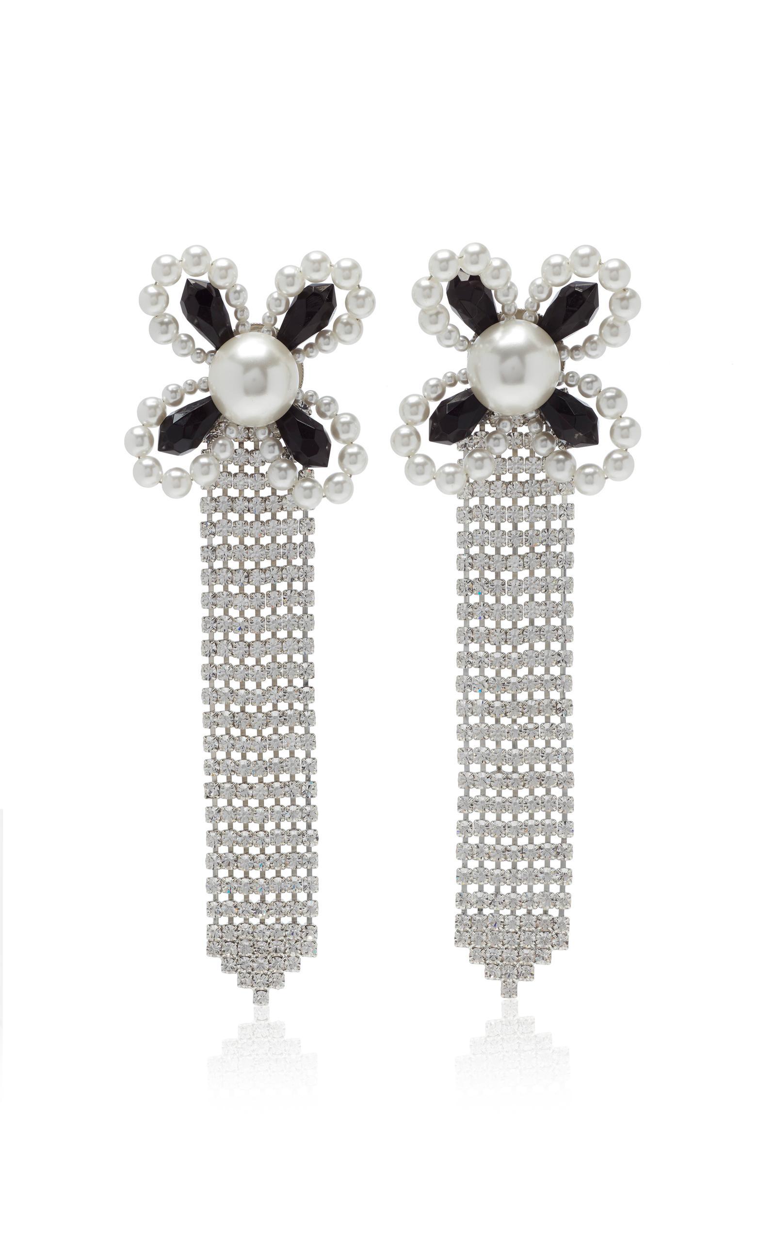 Faux-Pearl Flower Earrings Alessandra Rich XVgiYYqVN