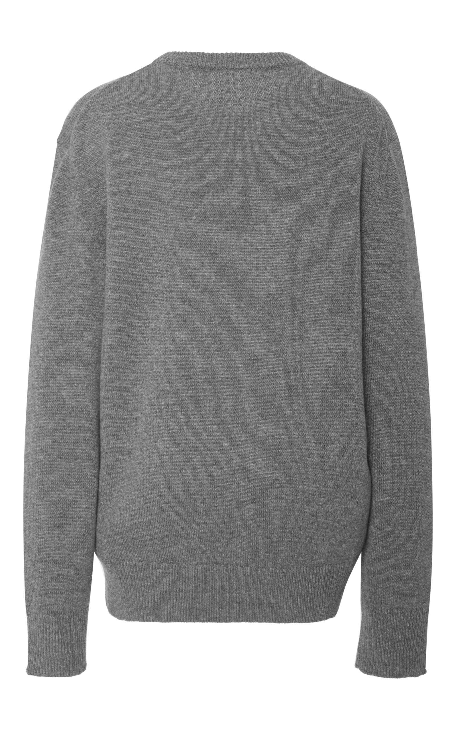 Michael Kors Cashmere Crewneck Top In Gray Lyst