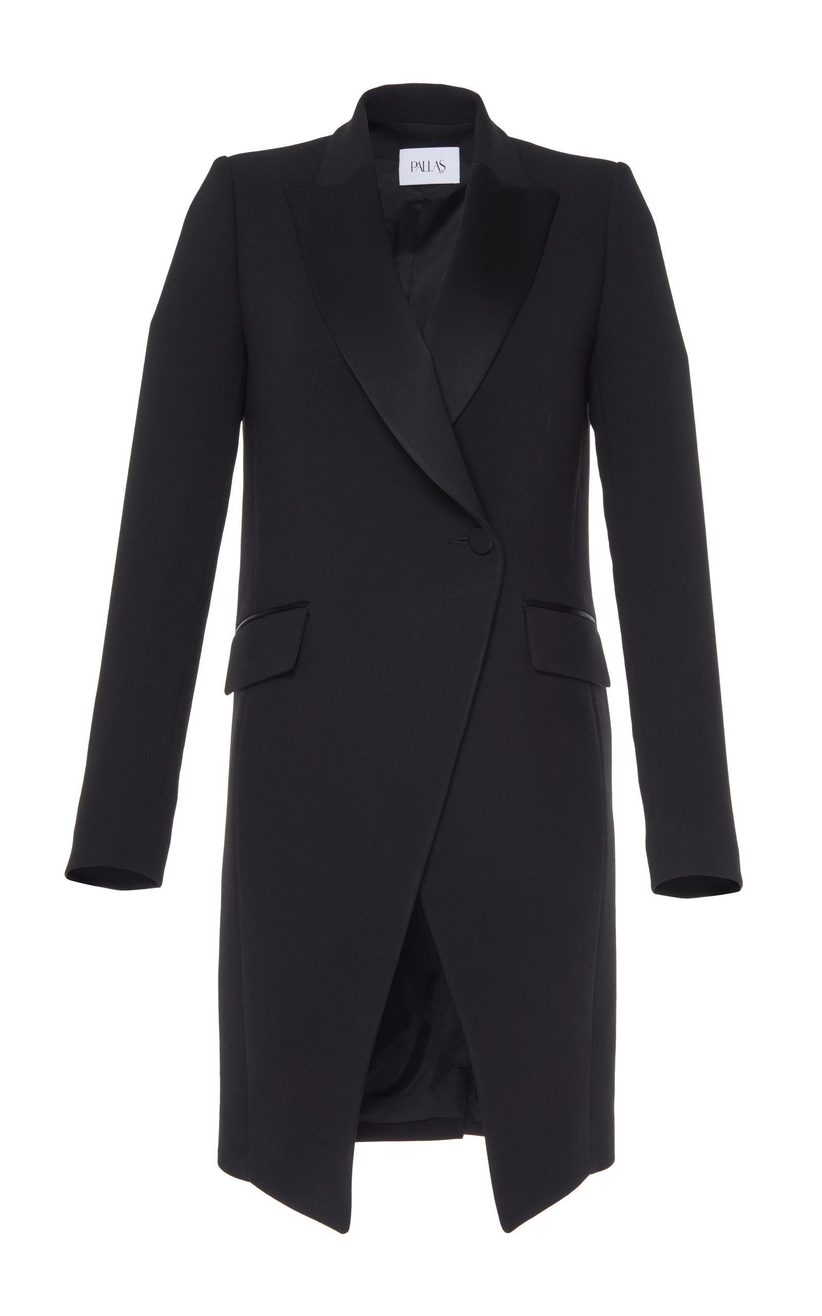 pallas bauhaus long coat in black lyst. Black Bedroom Furniture Sets. Home Design Ideas