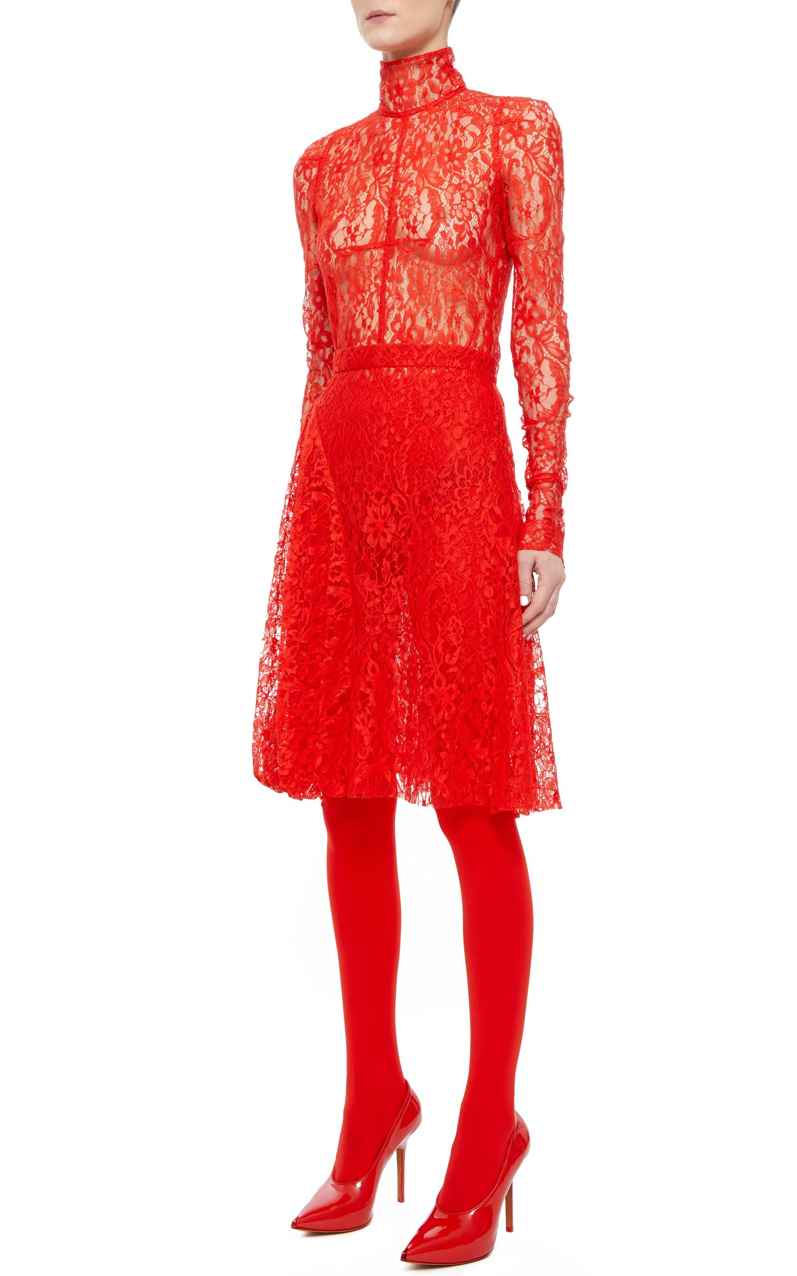 Lyst - Givenchy Lace Bodysuit in Red