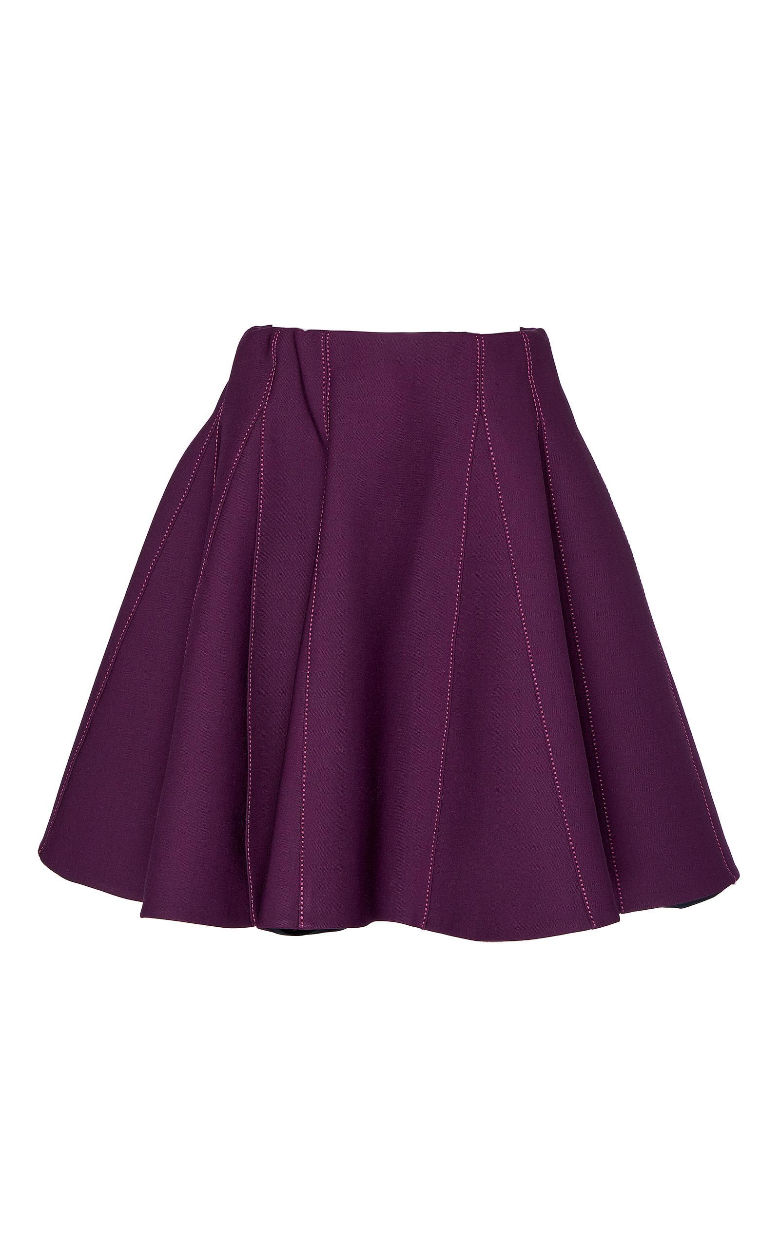 elie saab high waisted mini skirt in purple lyst