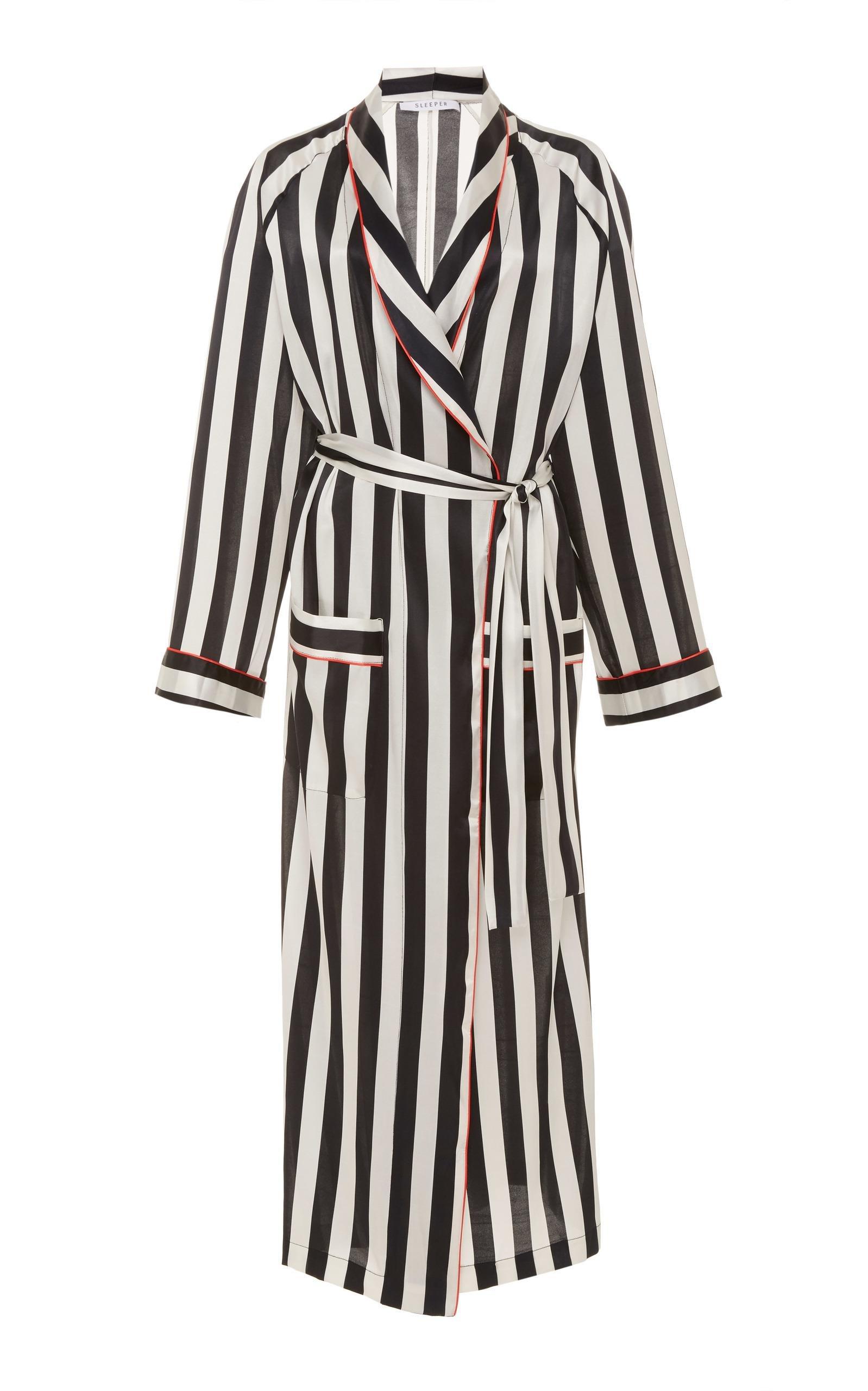 Lyst Sleeper Hotel Striped Robe In Black