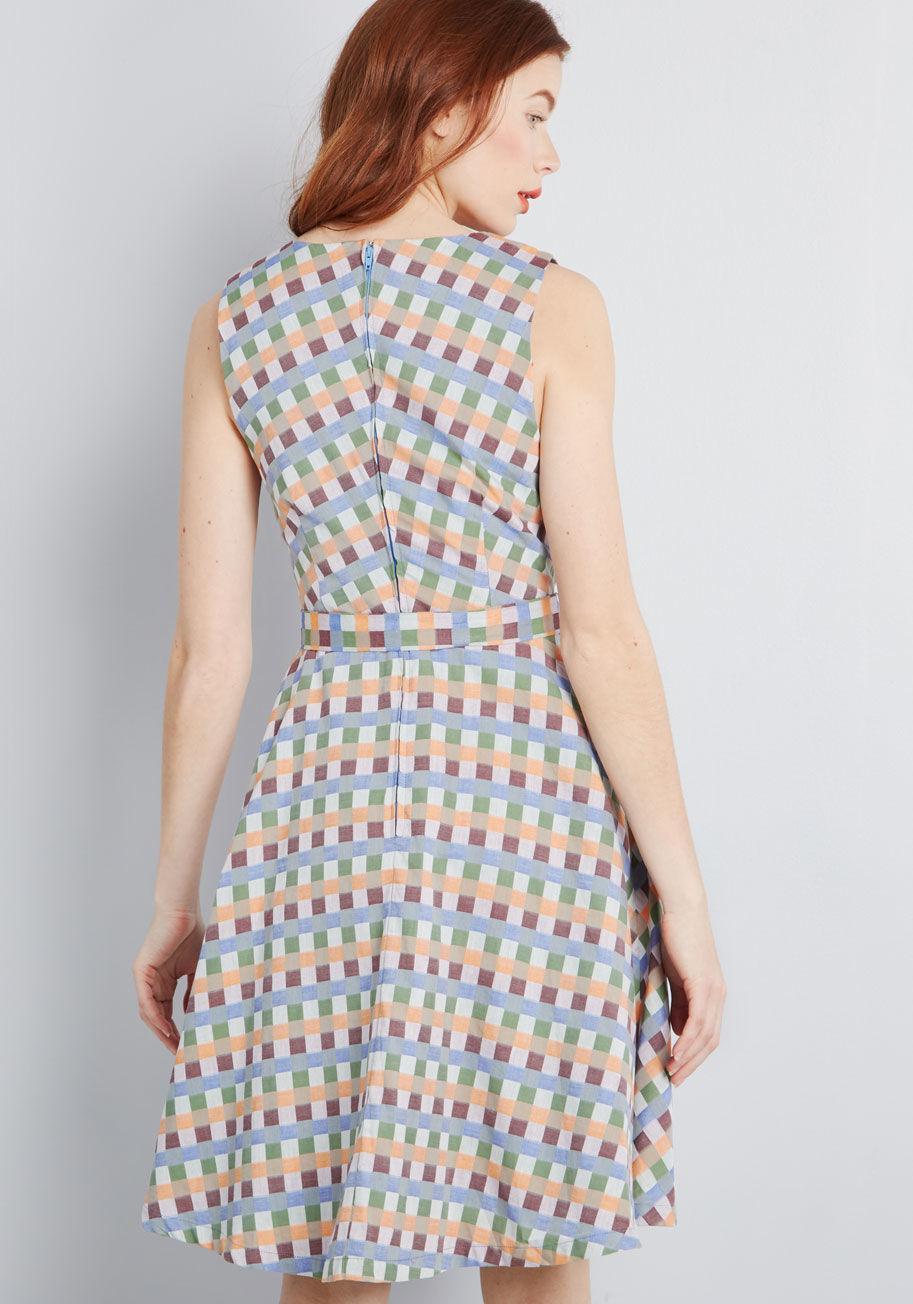 307f004d773 ModCloth - Blue Looking Back Sleeveless Dress - Lyst. View fullscreen