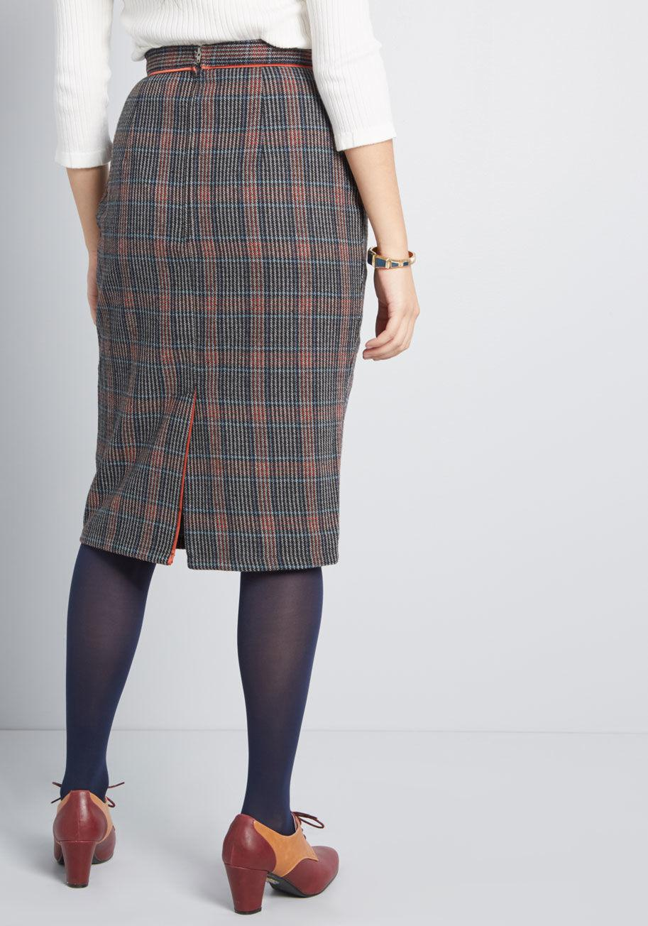 63f18e87f4a55d Banned The Mod Couple Pencil Skirt in Brown - Lyst