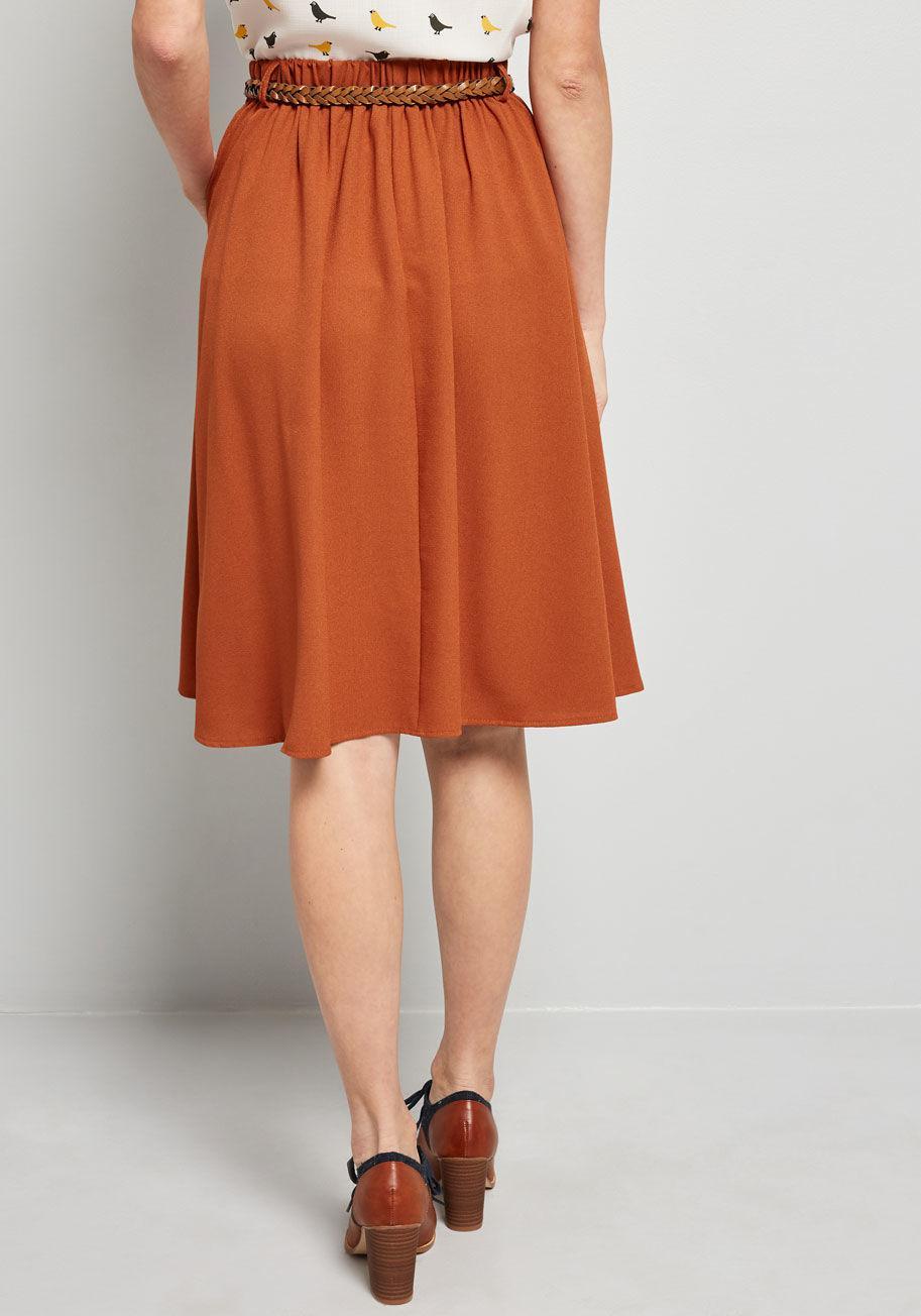 b0b4450811 ModCloth - Orange Breathtaking Tiger Lilies Midi Skirt - Lyst. View  fullscreen