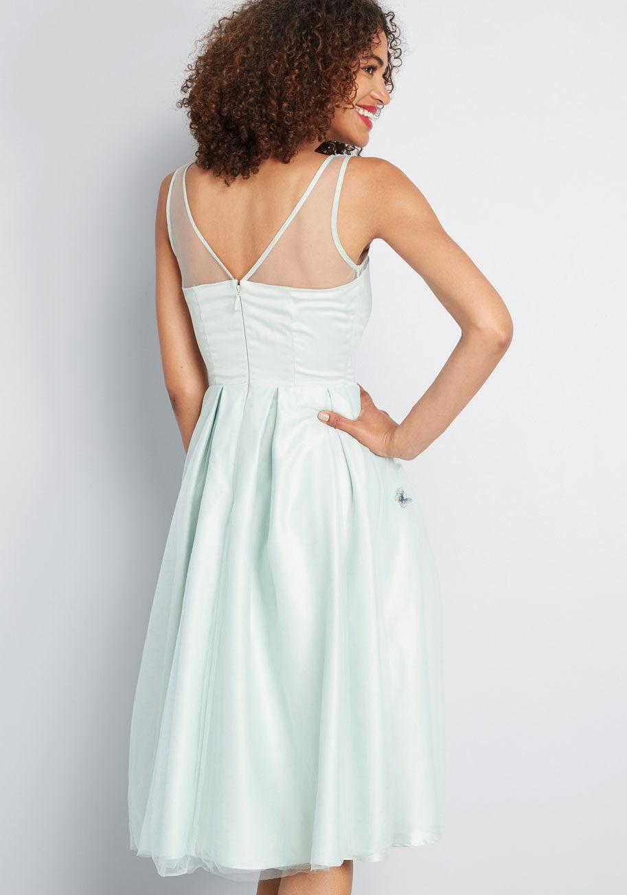 8a224b57928 Collectif - Green Fluttering Butterflies Sleeveless Dress - Lyst. View  fullscreen