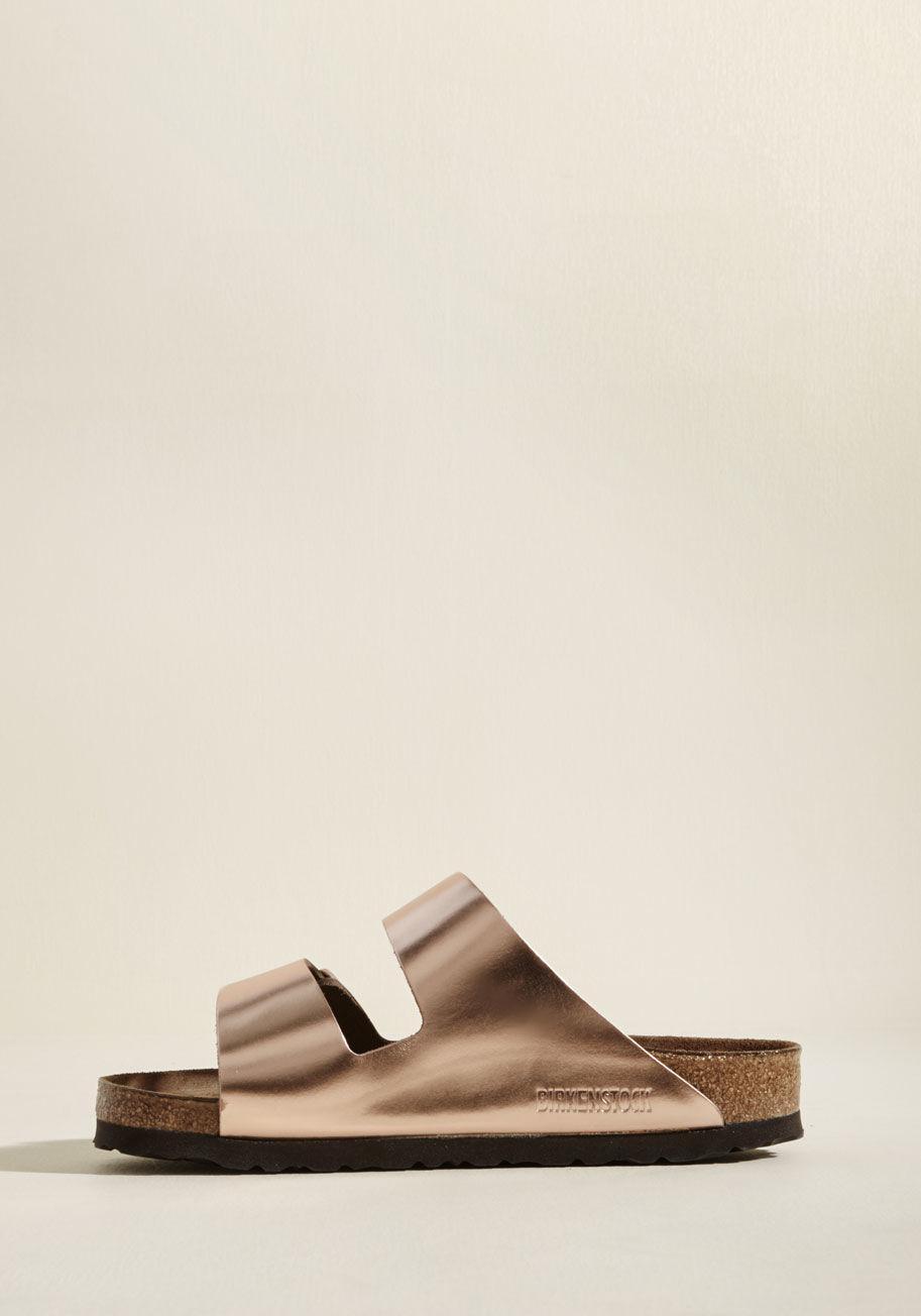 3b75bd436f2b Lyst - Birkenstock Strappy Camper Sandal In Rose Gold