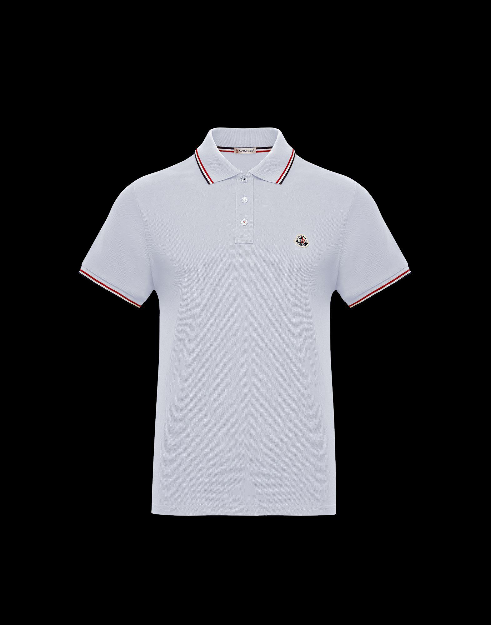 7216a26cf909 Lyst - Moncler Polo Shirt in White for Men