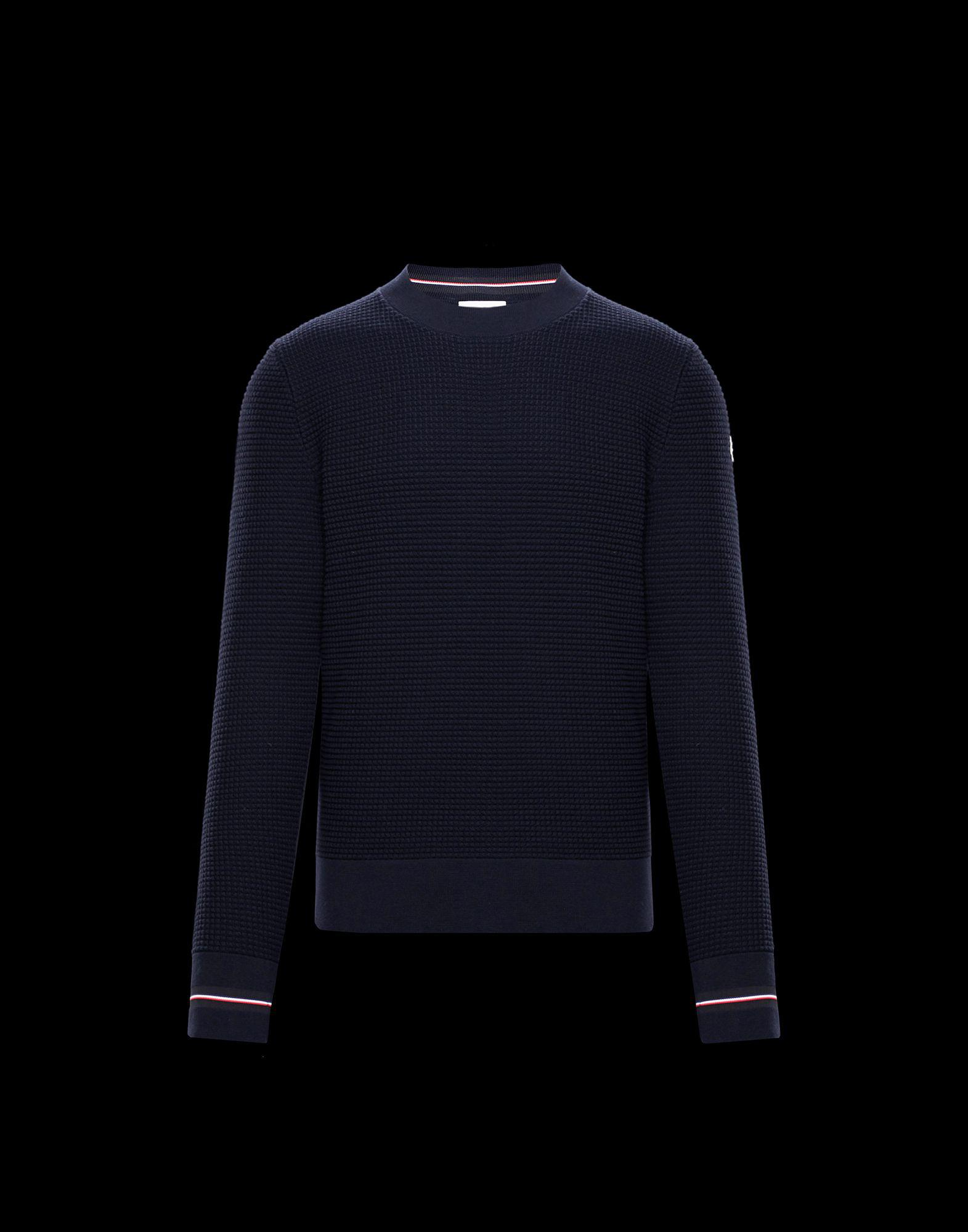 cb01483c1 Lyst - Moncler Crewneck in Blue for Men